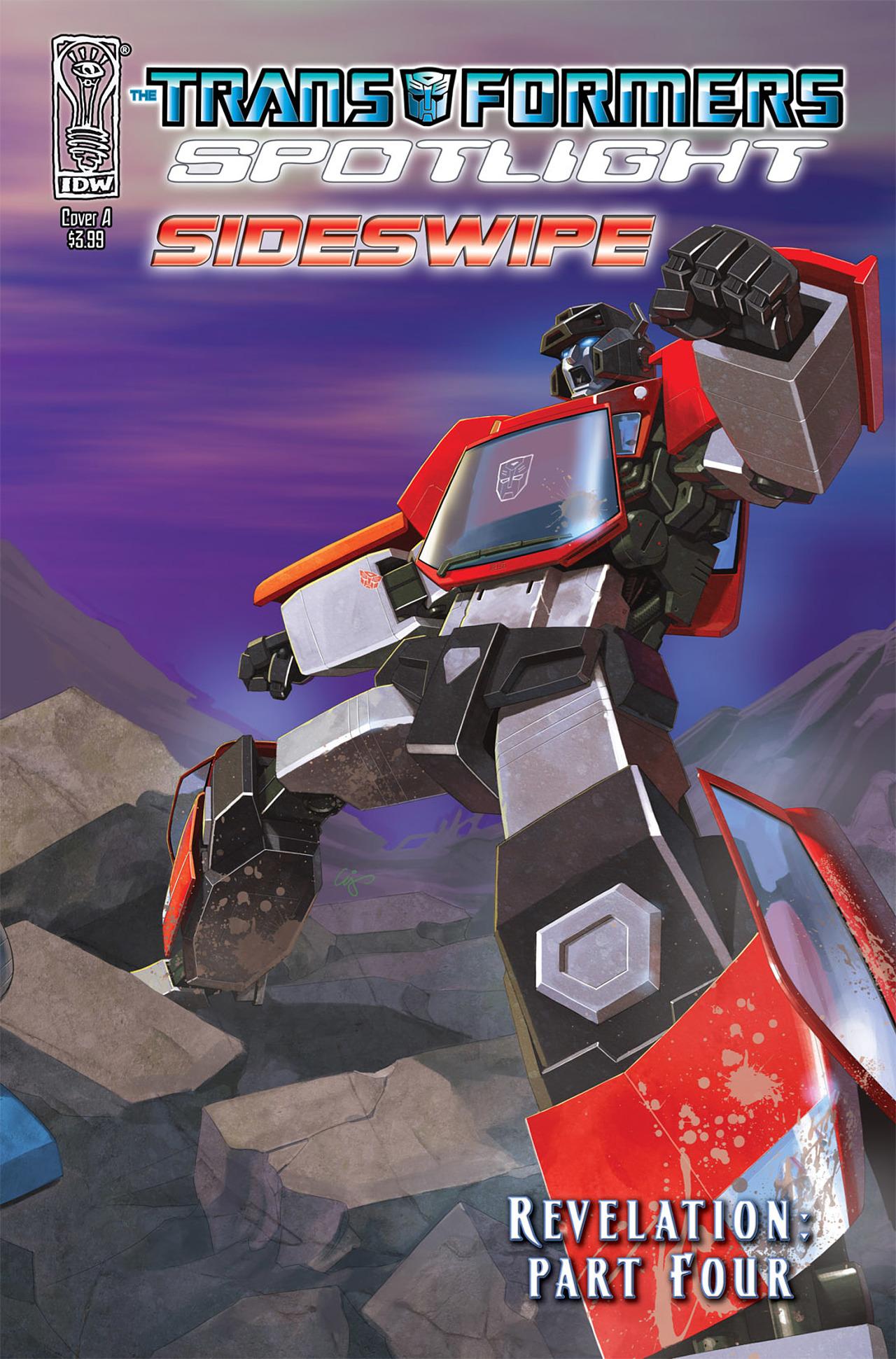 Read online Transformers Spotlight: Sideswipe comic -  Issue # Full - 1