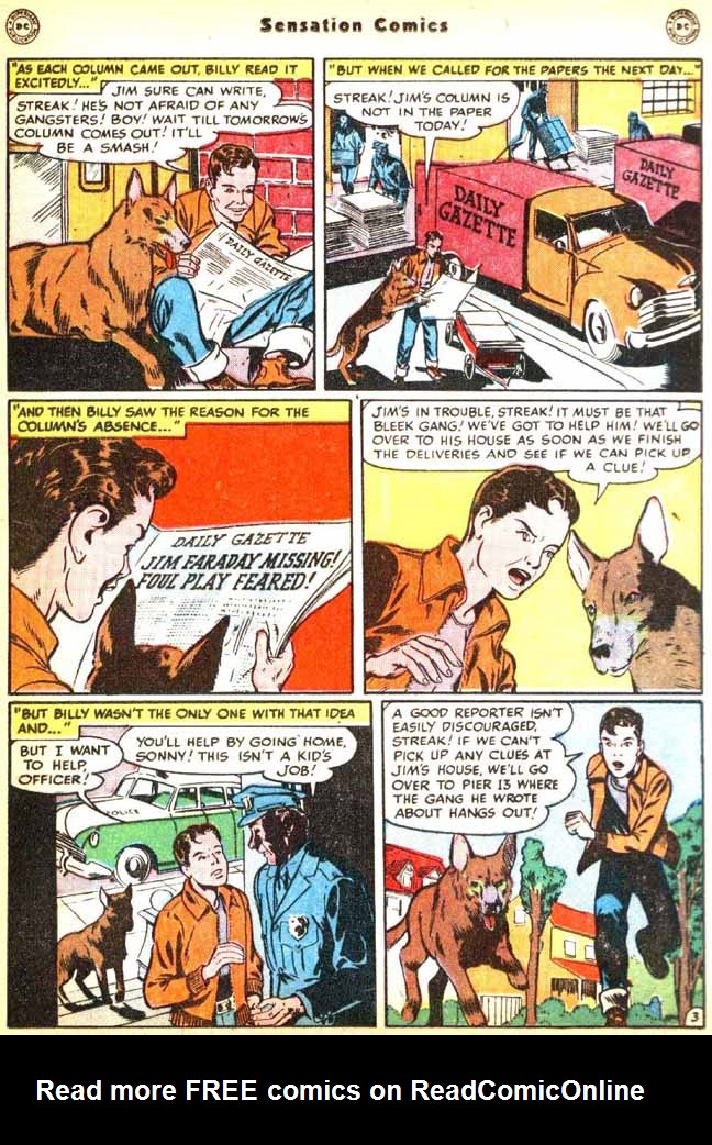 Read online Sensation (Mystery) Comics comic -  Issue #92 - 19