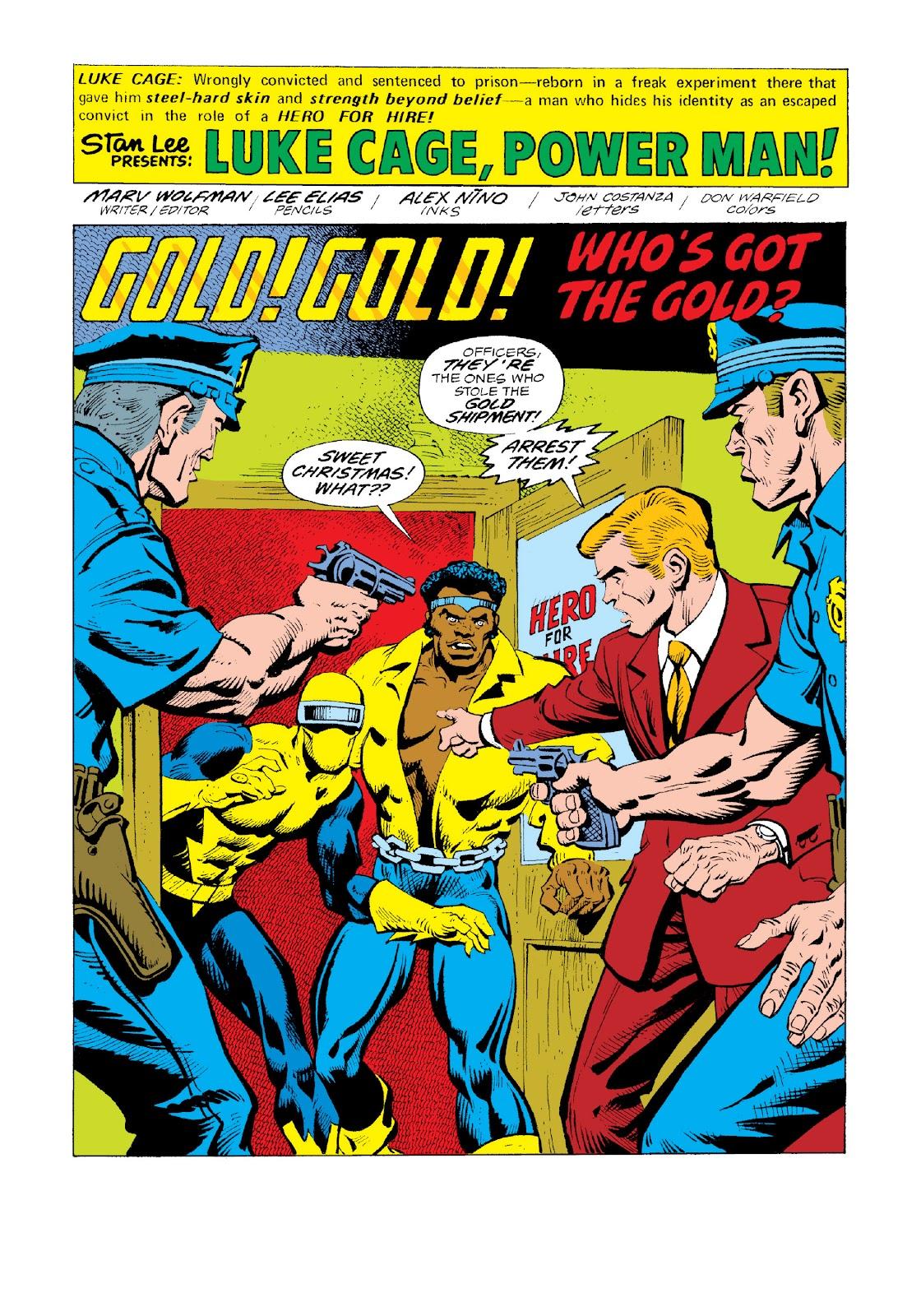 Read online Marvel Masterworks: Luke Cage, Power Man comic -  Issue # TPB 3 (Part 3) - 10