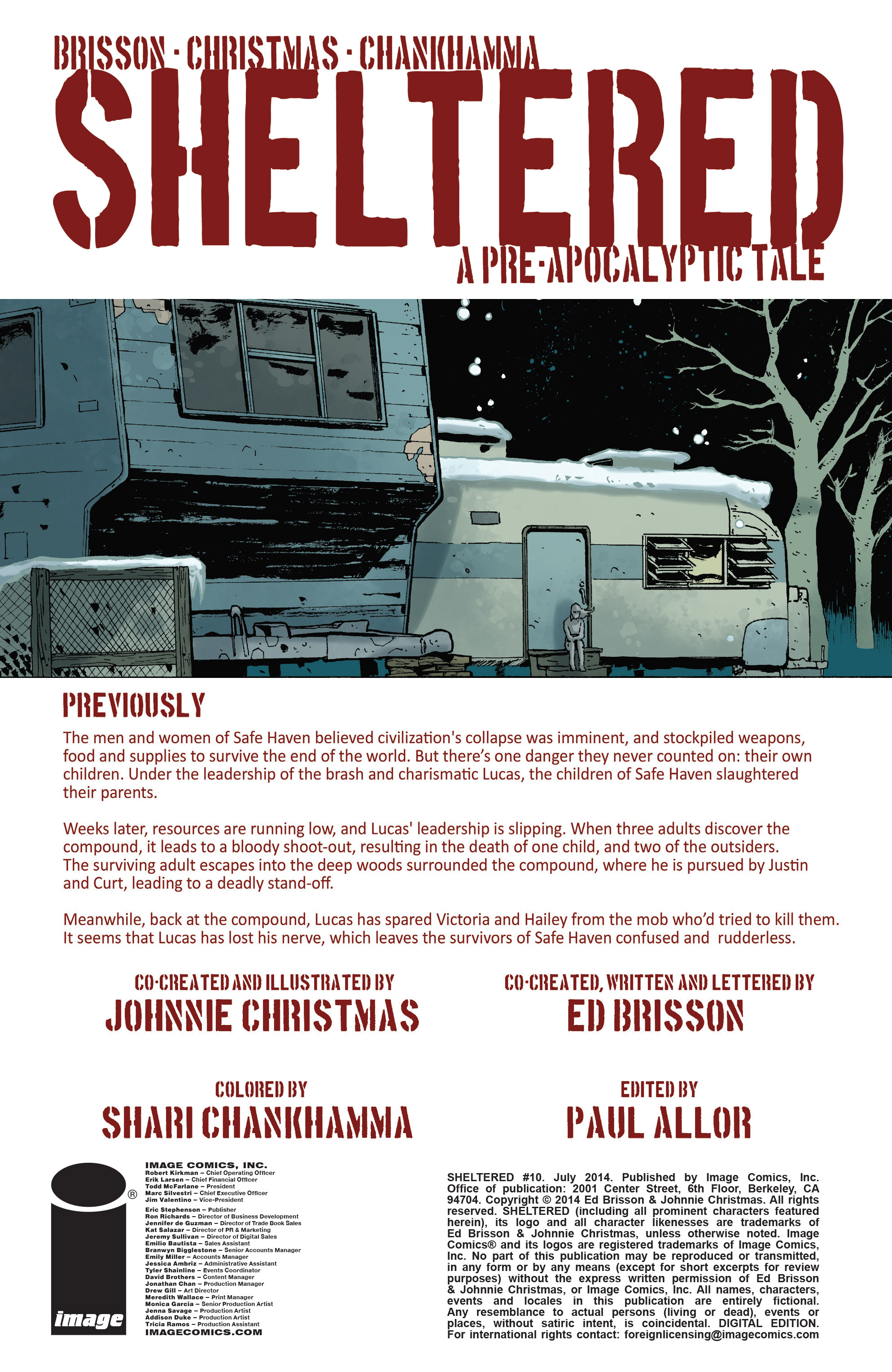 Read online Sheltered comic -  Issue #10 - 2