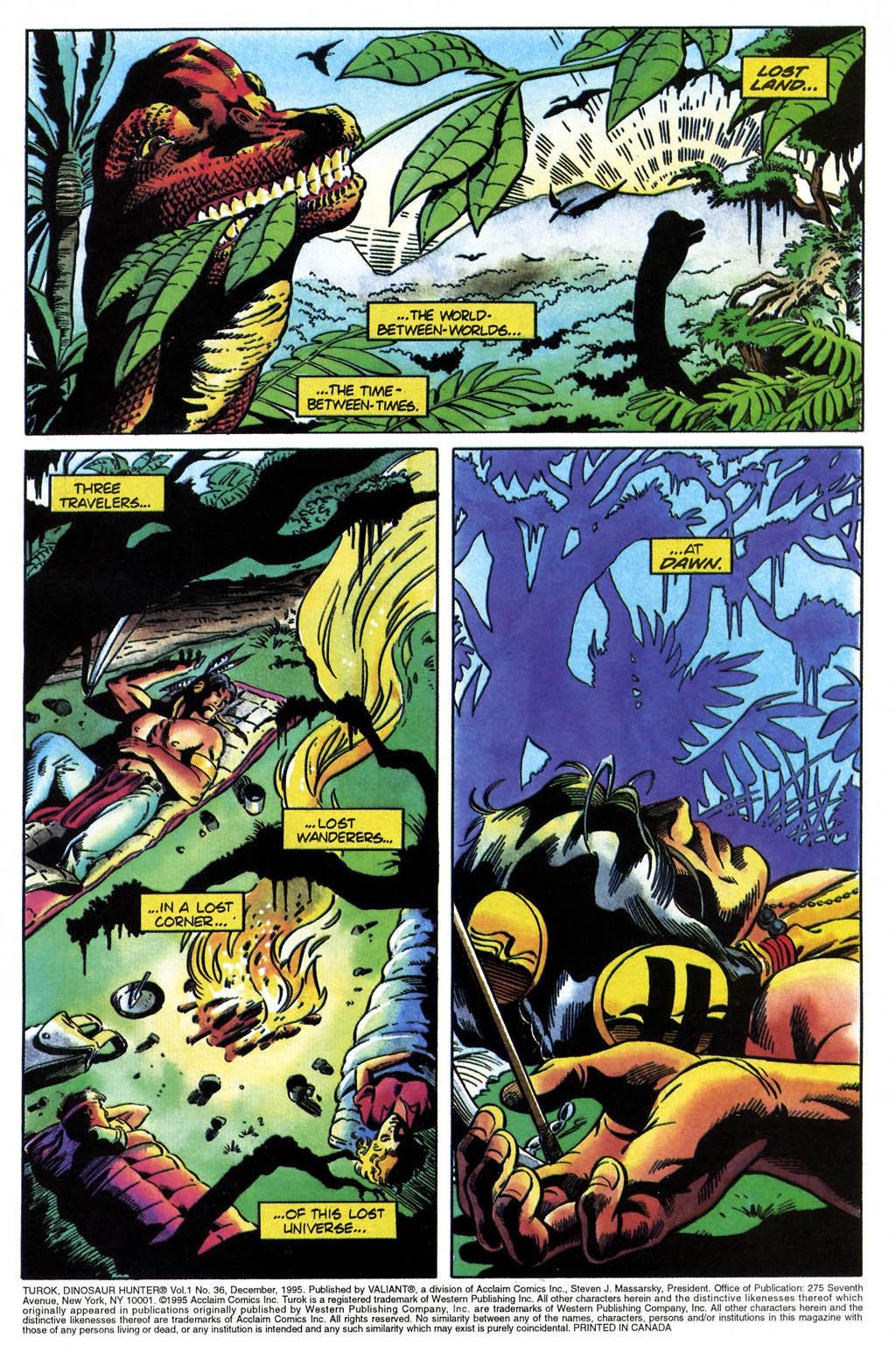 Read online Turok, Dinosaur Hunter (1993) comic -  Issue #36 - 2