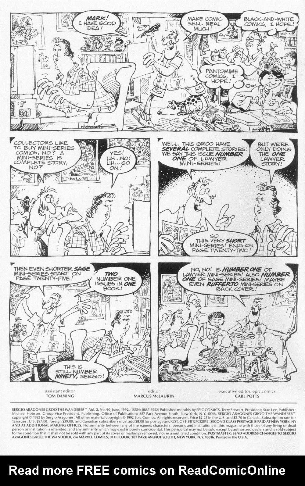 Read online Sergio Aragonés Groo the Wanderer comic -  Issue #90 - 2