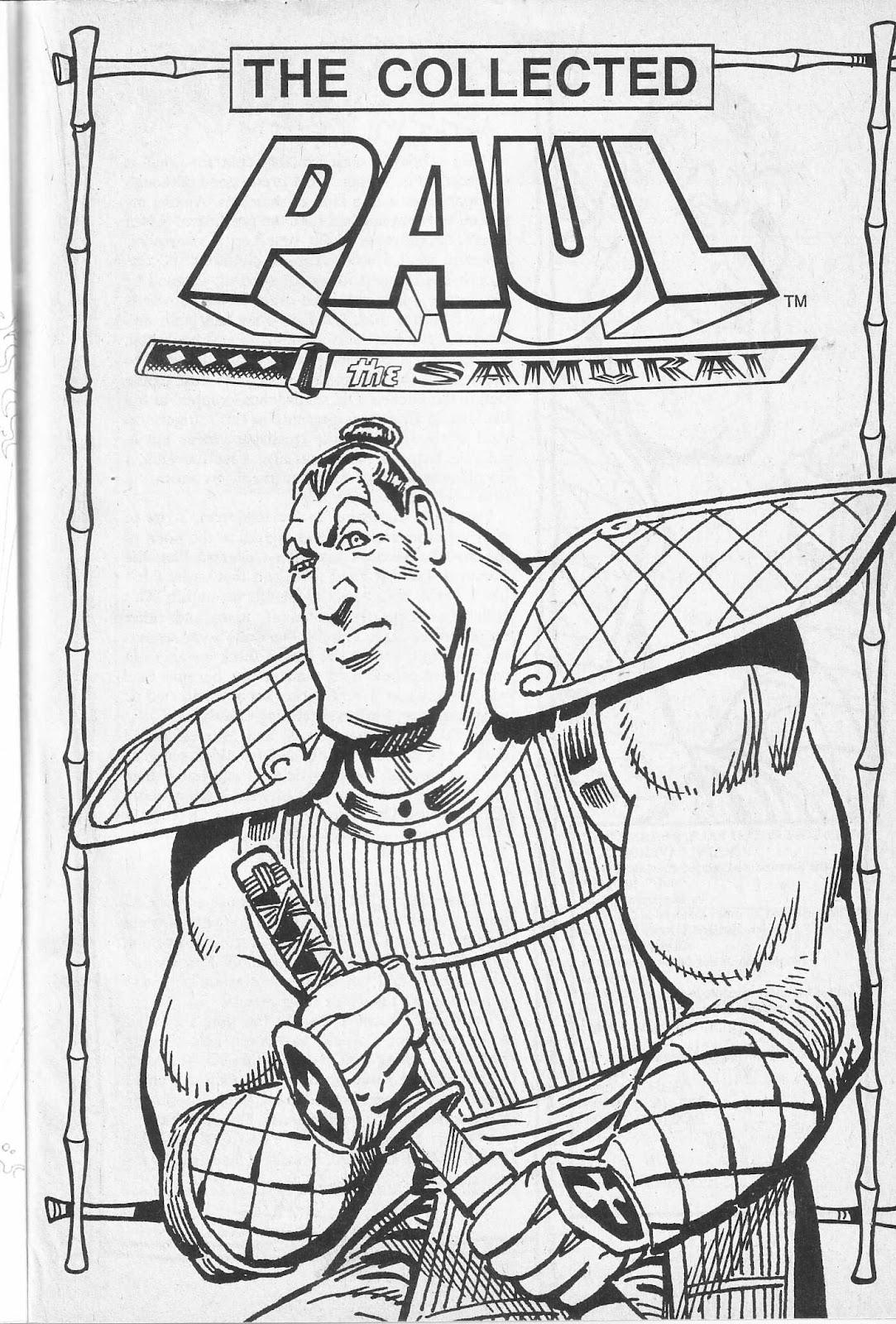 Read online Paul the Samurai (1991) comic -  Issue # TPB - 3