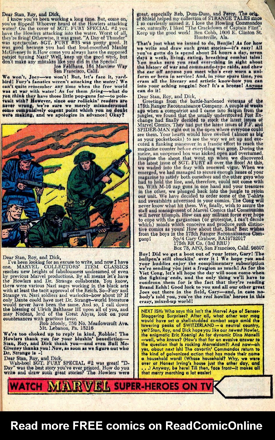 Read online Sgt. Fury comic -  Issue #36 - 32