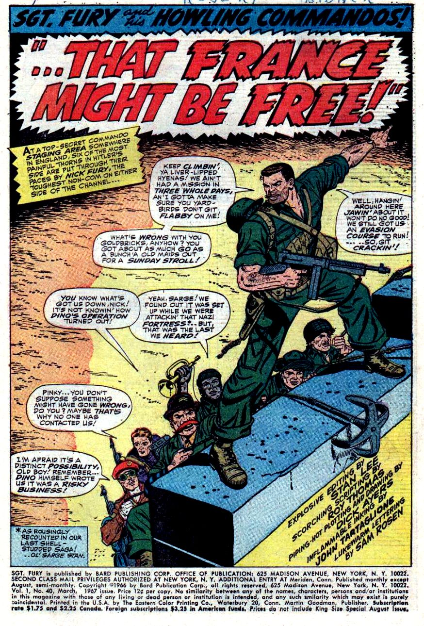 Read online Sgt. Fury comic -  Issue #40 - 3