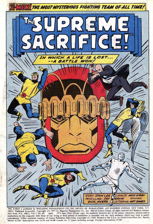Read online Uncanny X-Men (1963) comic -  Issue #69 - 3