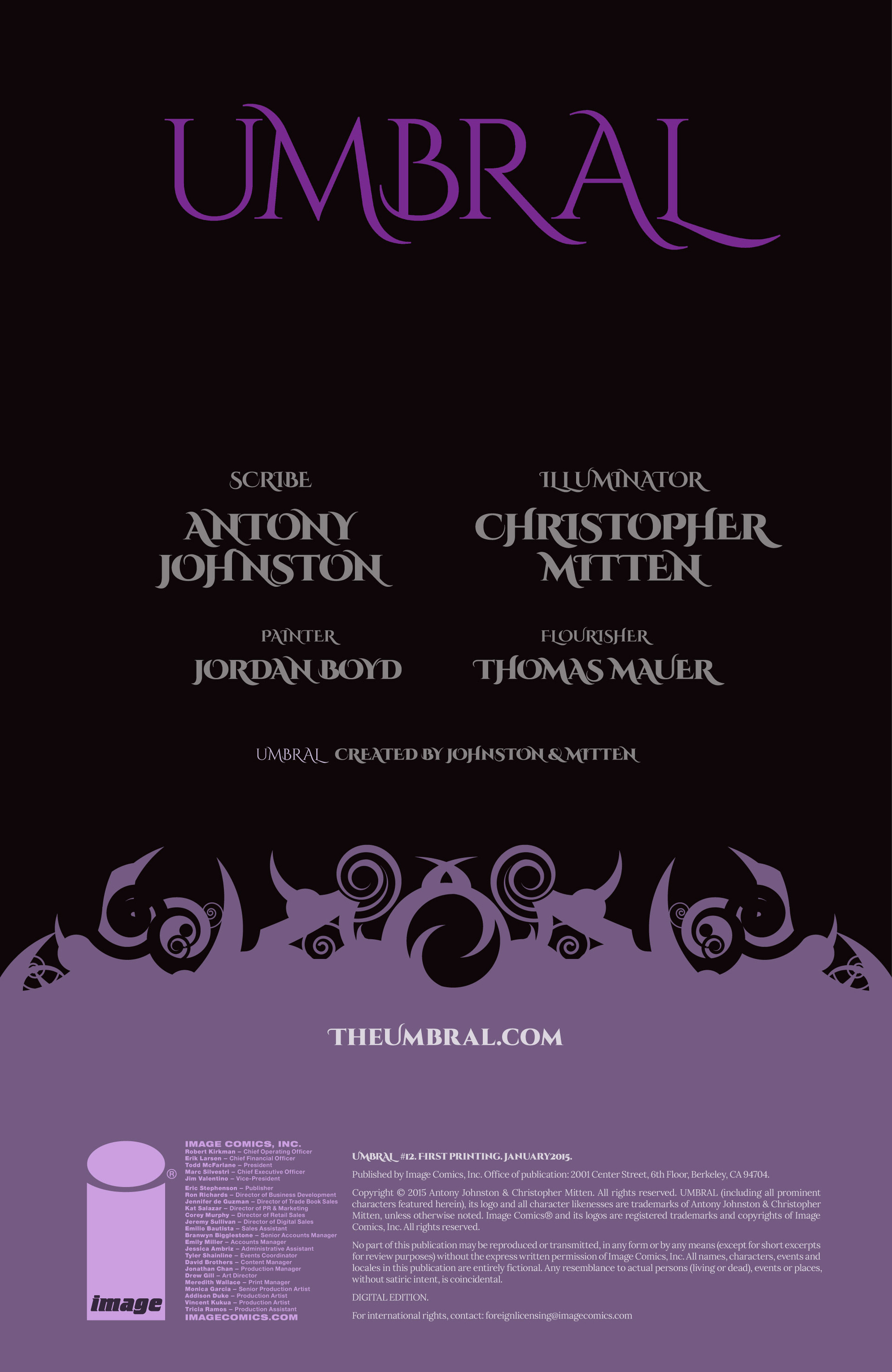 Read online Umbral comic -  Issue #12 - 2