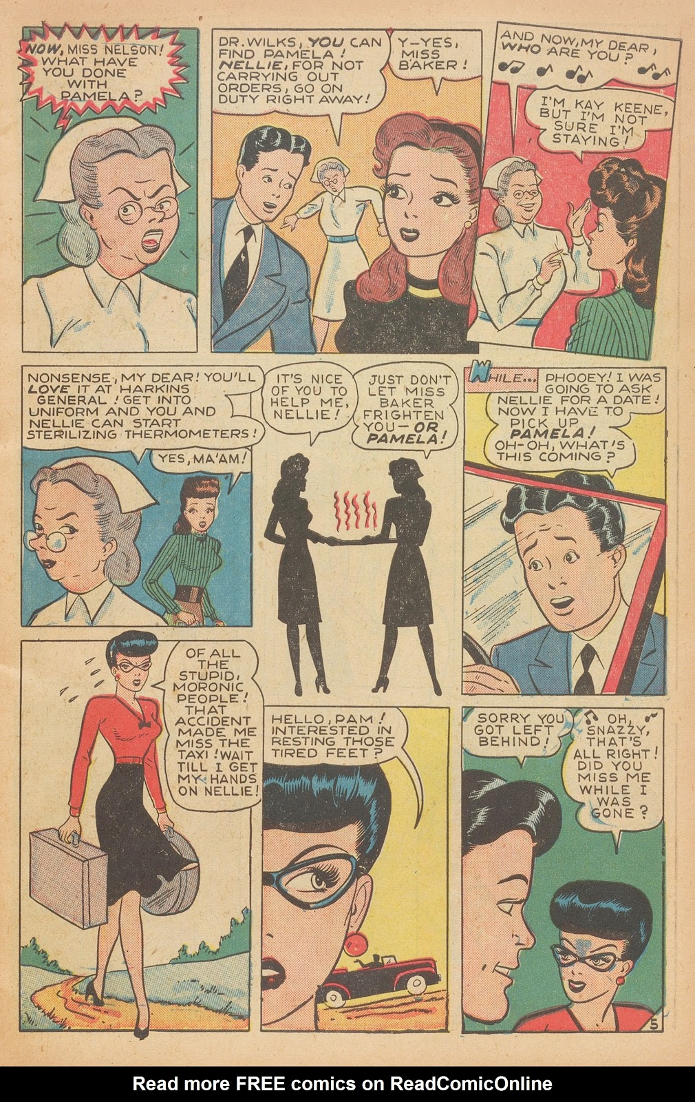 Read online Nellie The Nurse (1945) comic -  Issue #15 - 7