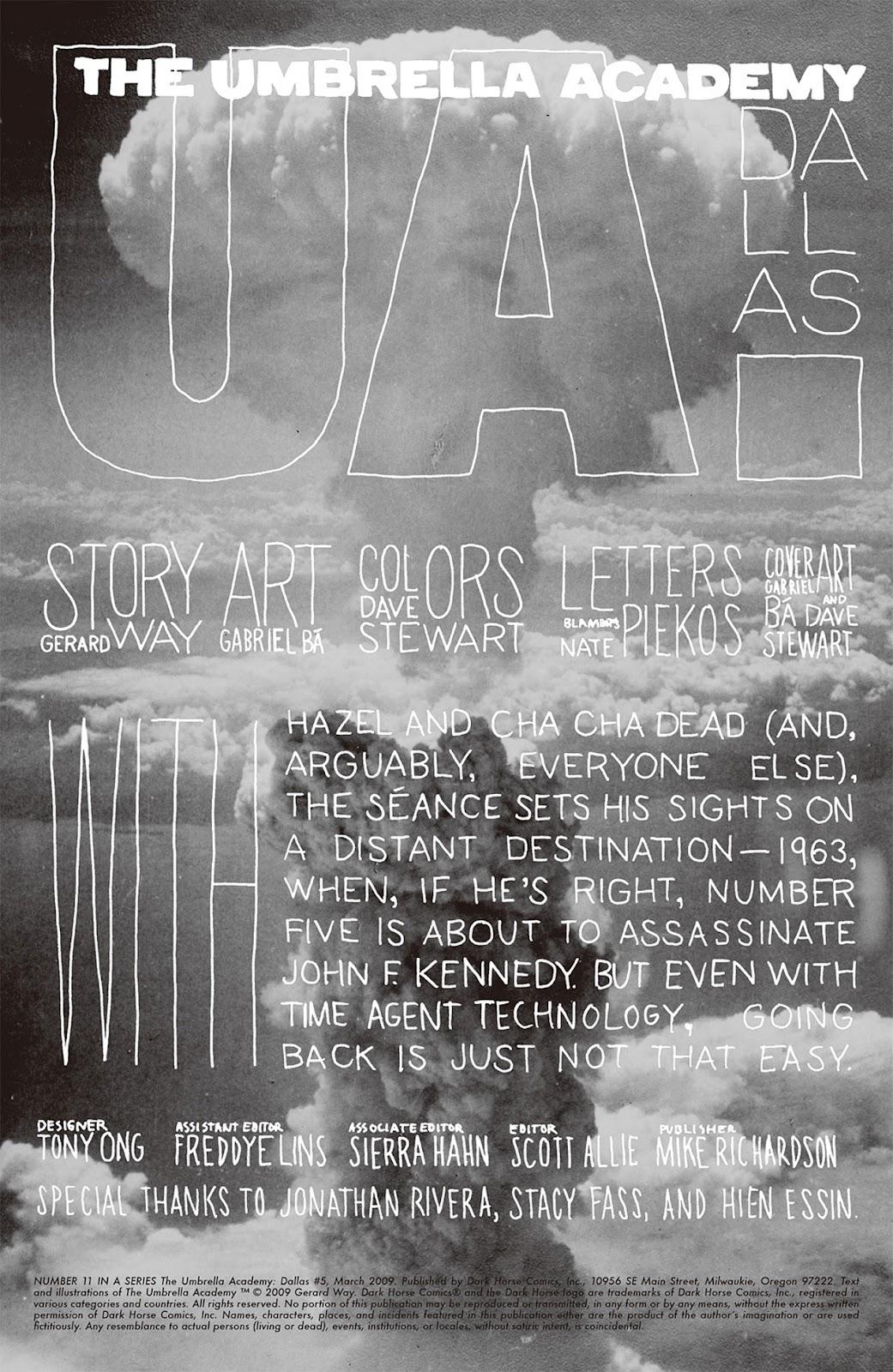 The Umbrella Academy: Dallas issue 5 - Page 1