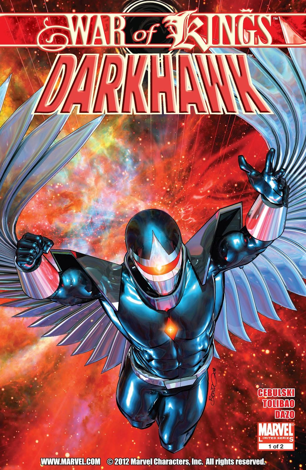 War of Kings: Darkhawk issue 1 - Page 1