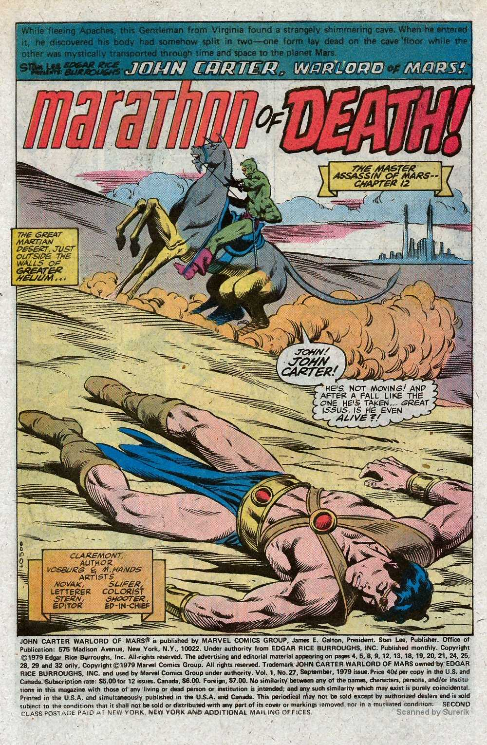 John Carter Warlord of Mars issue 27 - Page 3