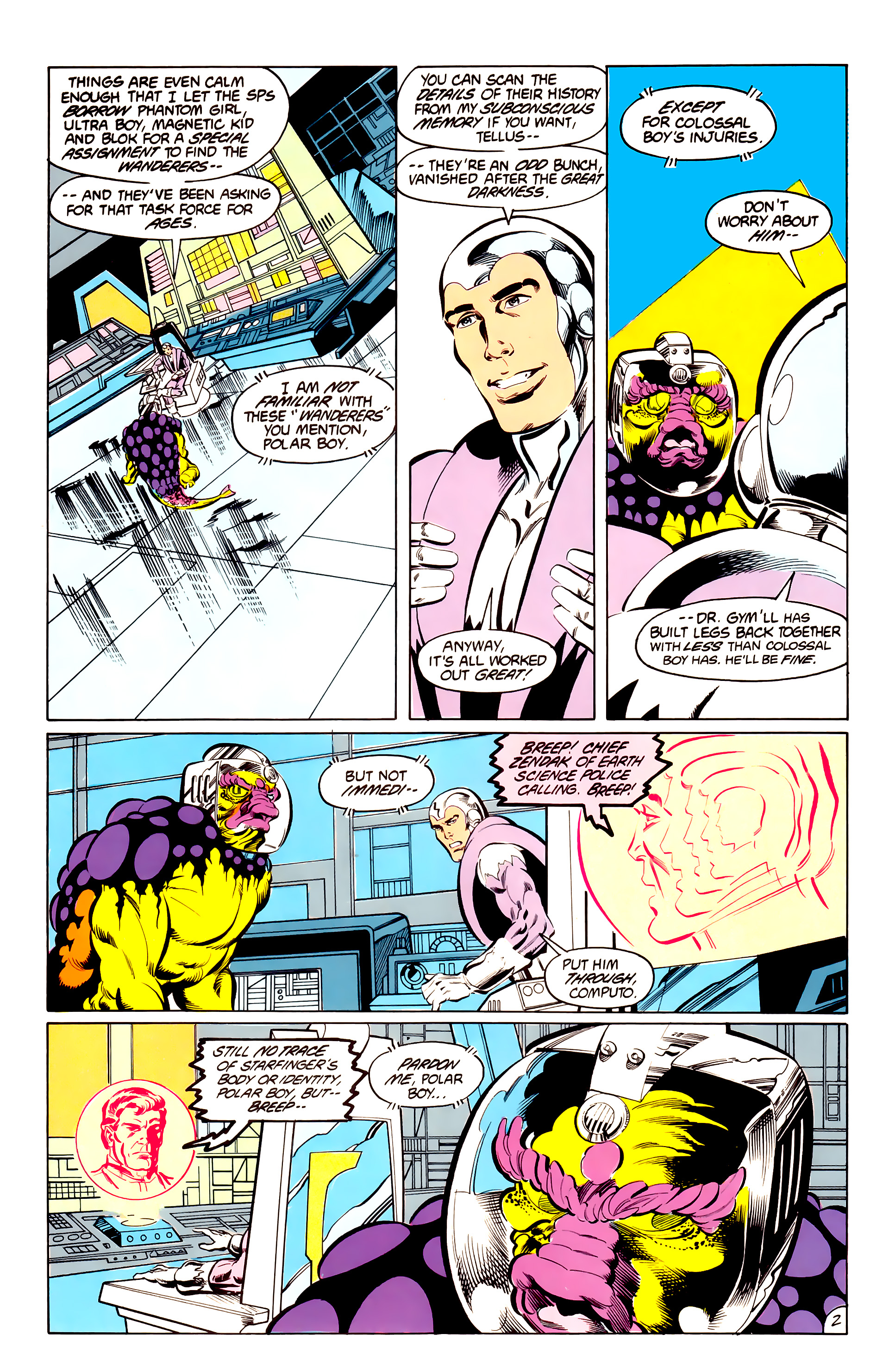 Legion of Super-Heroes (1984) 42 Page 2