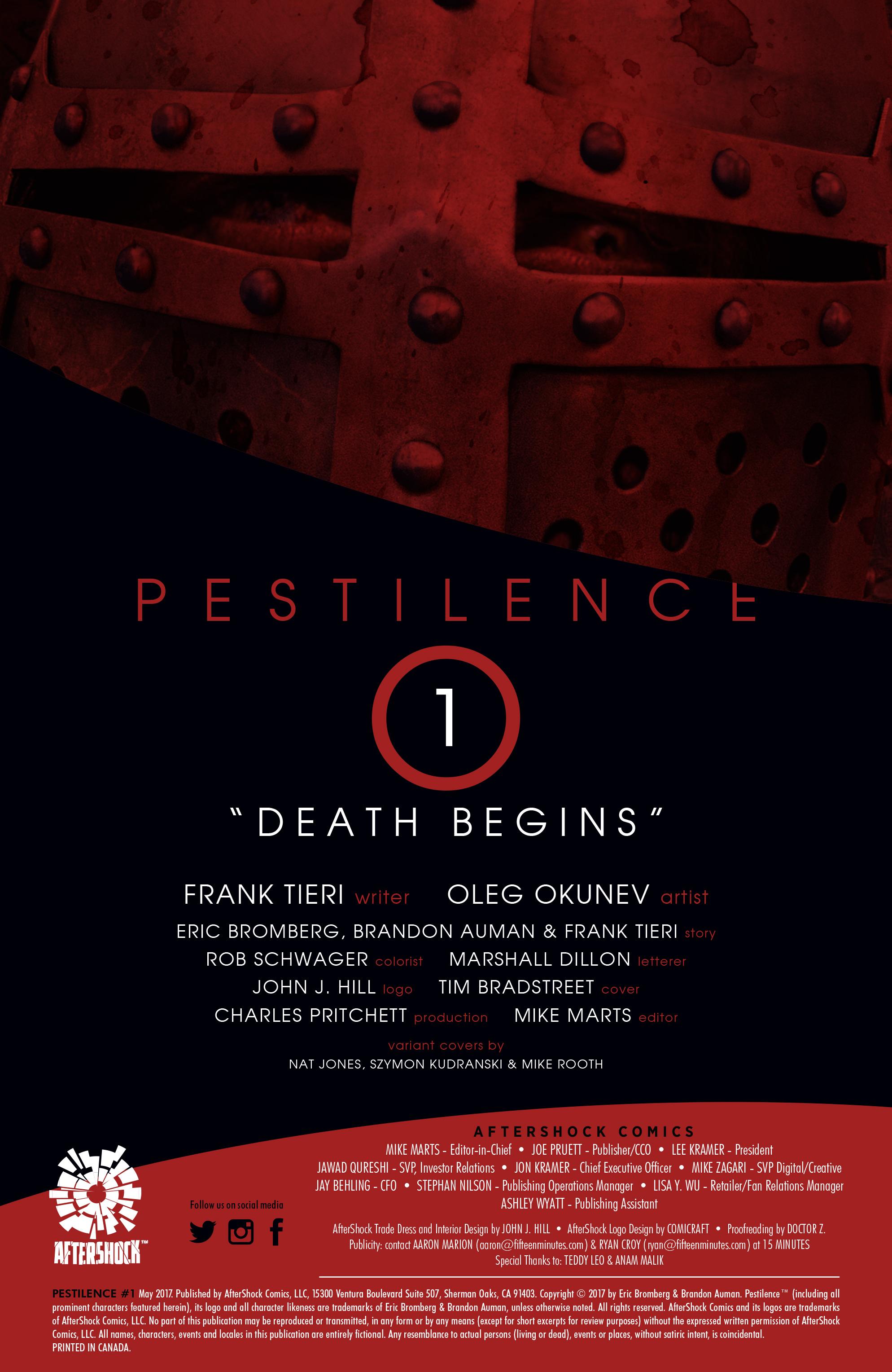 Read online Pestilence comic -  Issue #1 - 2