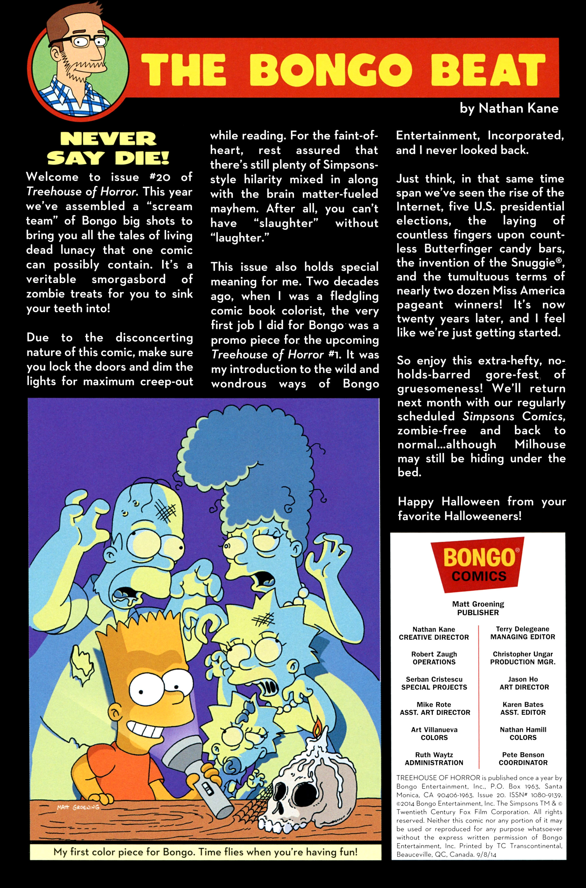 Read online Treehouse of Horror comic -  Issue #20 - 2