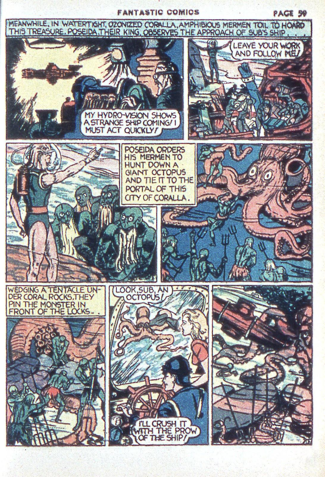 Read online Fantastic Comics comic -  Issue #3 - 61