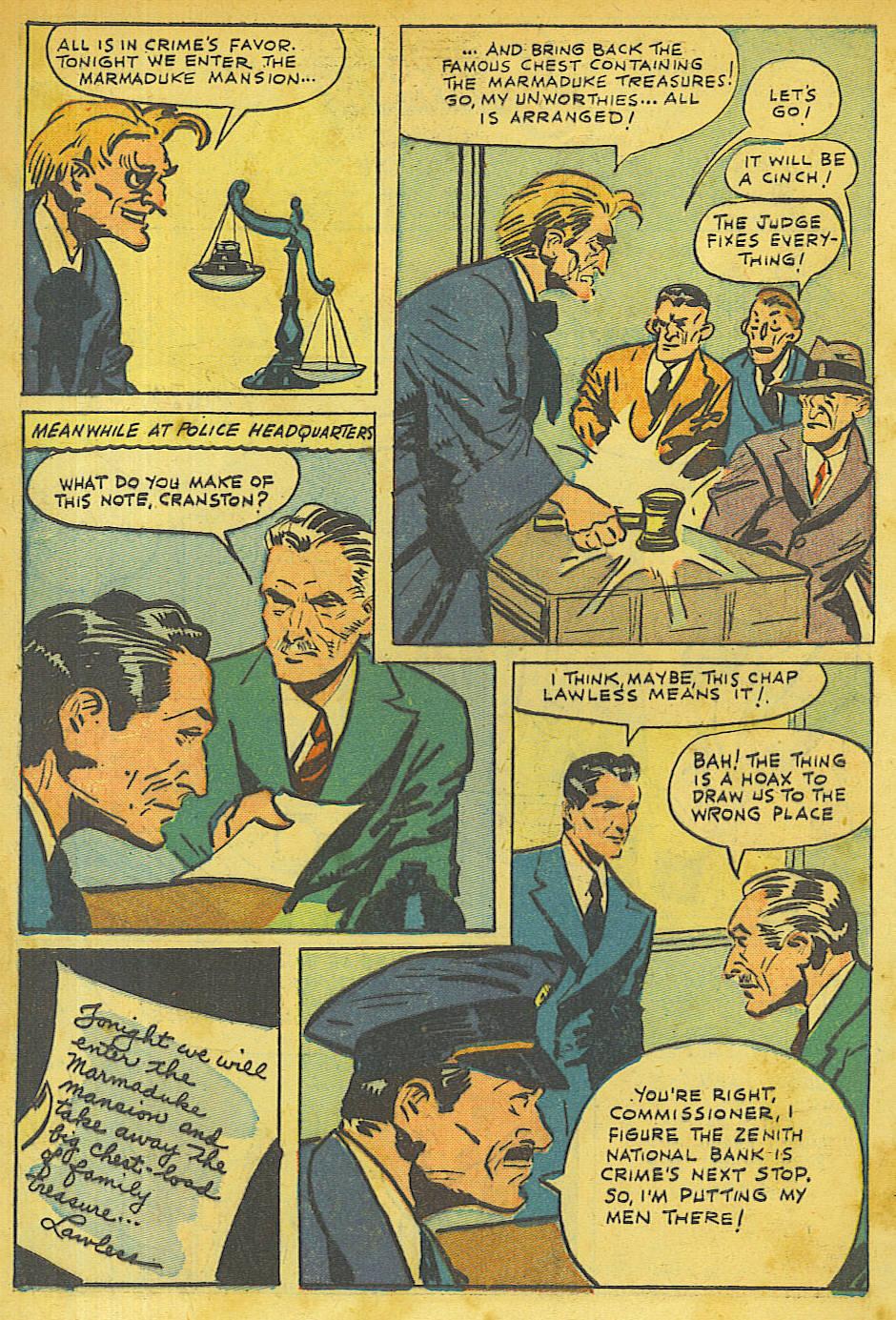 Read online Shadow Comics comic -  Issue #63 - 2