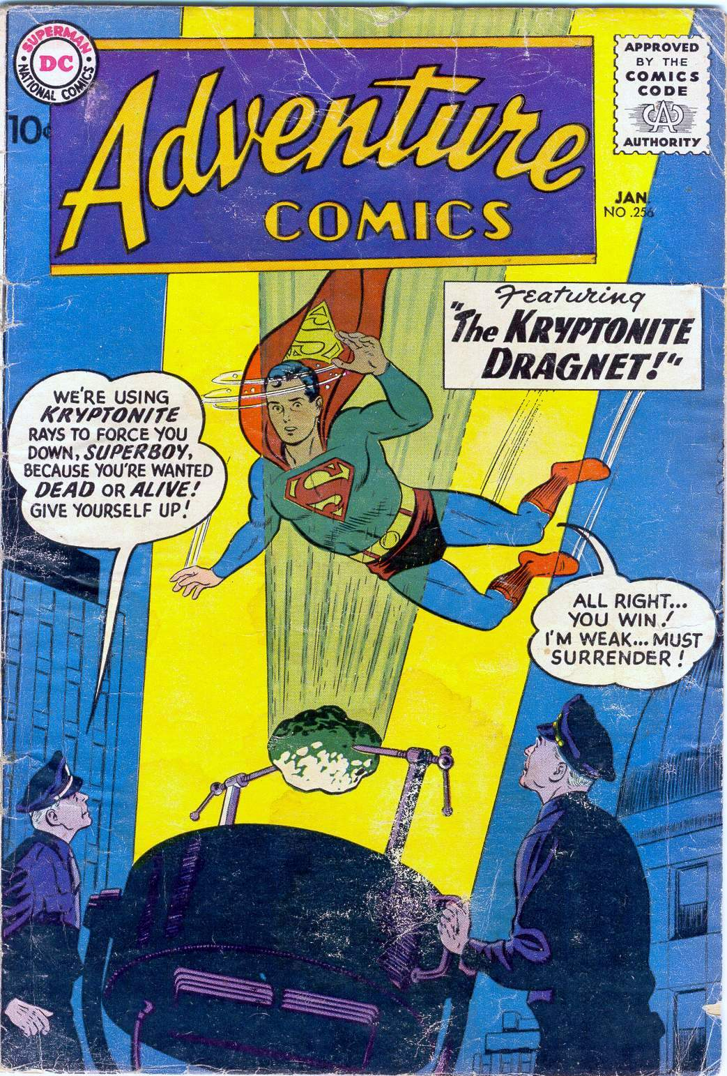 Read online Adventure Comics (1938) comic -  Issue #256 - 1