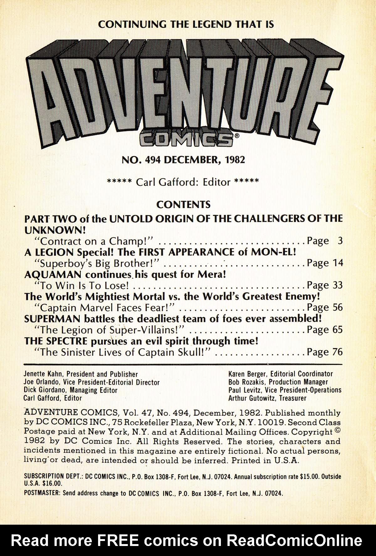 Read online Adventure Comics (1938) comic -  Issue #494 - 2