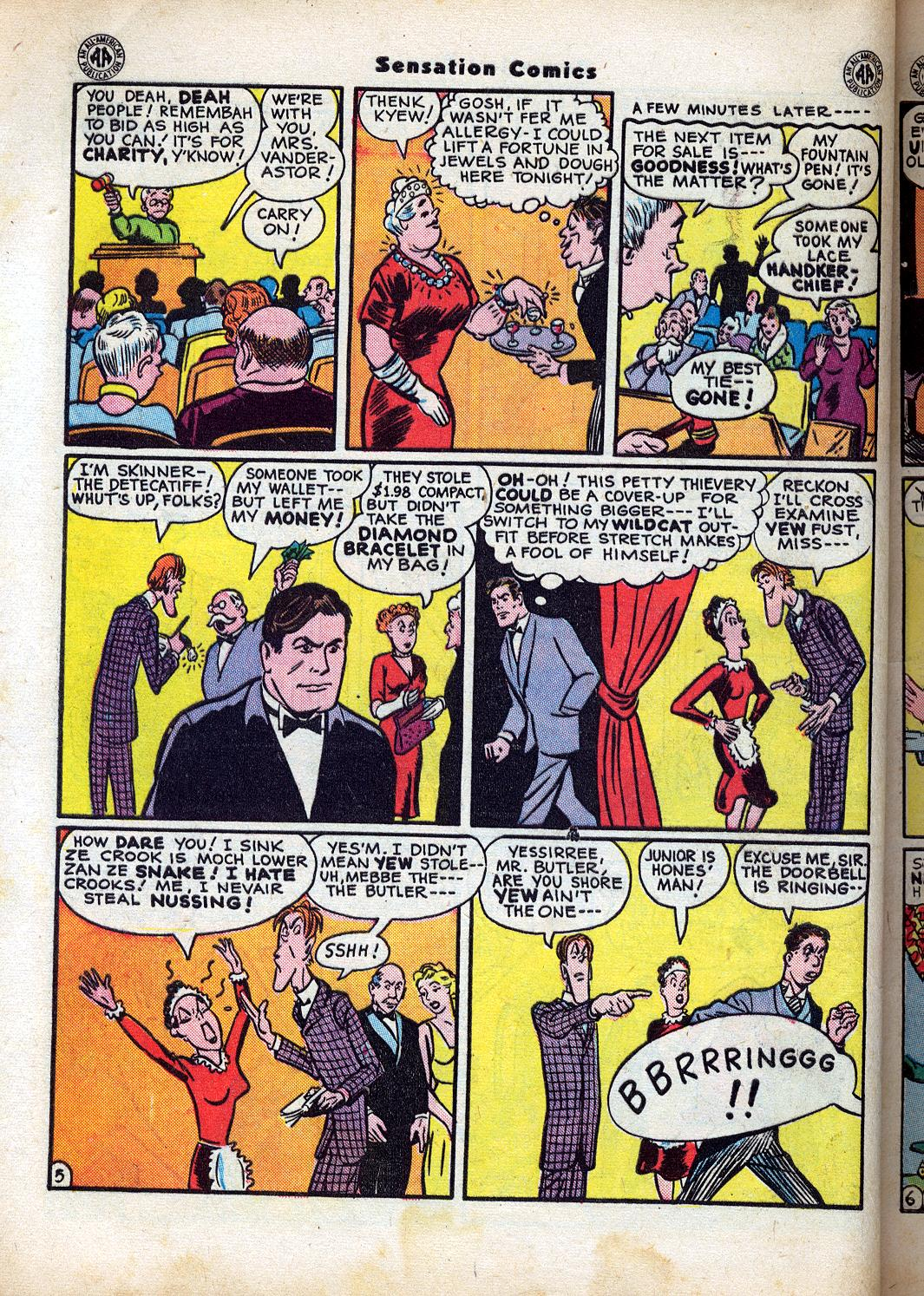 Read online Sensation (Mystery) Comics comic -  Issue #47 - 46