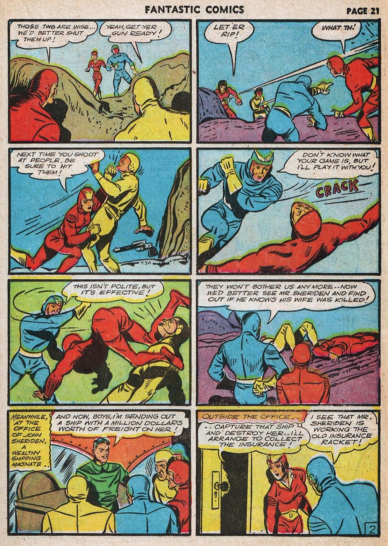 Read online Fantastic Comics comic -  Issue #20 - 22