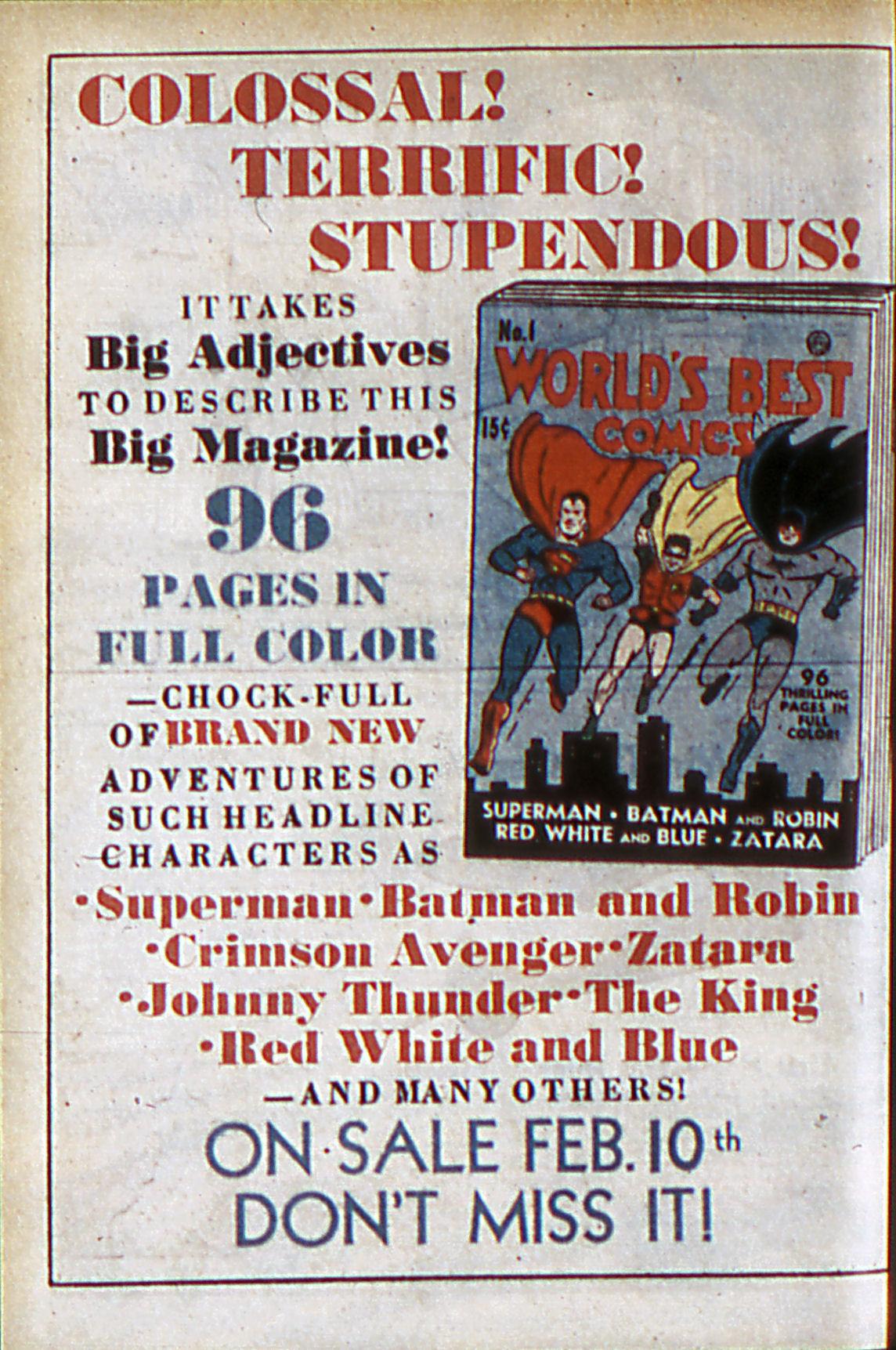 Read online Adventure Comics (1938) comic -  Issue #60 - 21