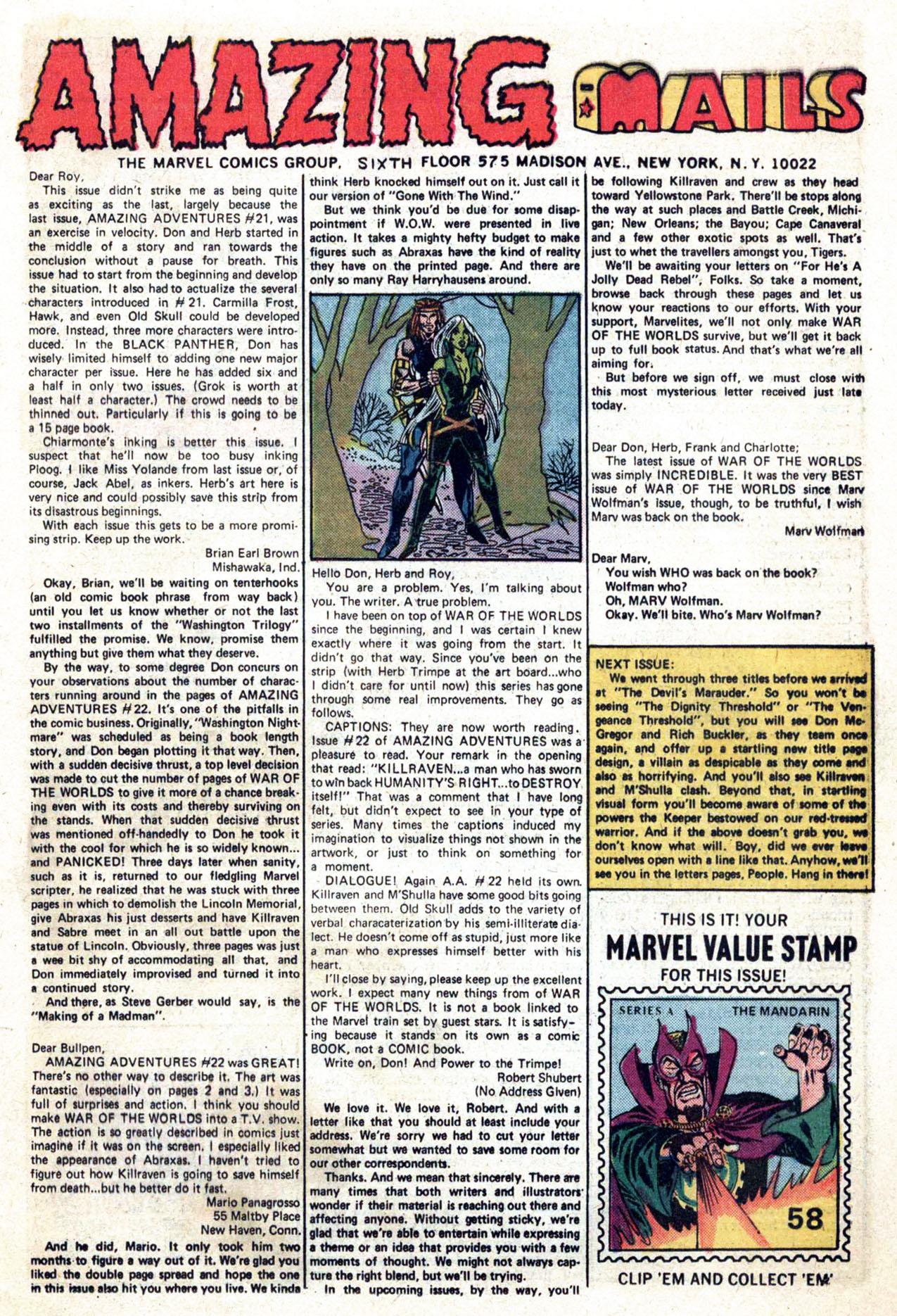 Read online Amazing Adventures (1970) comic -  Issue #24 - 20