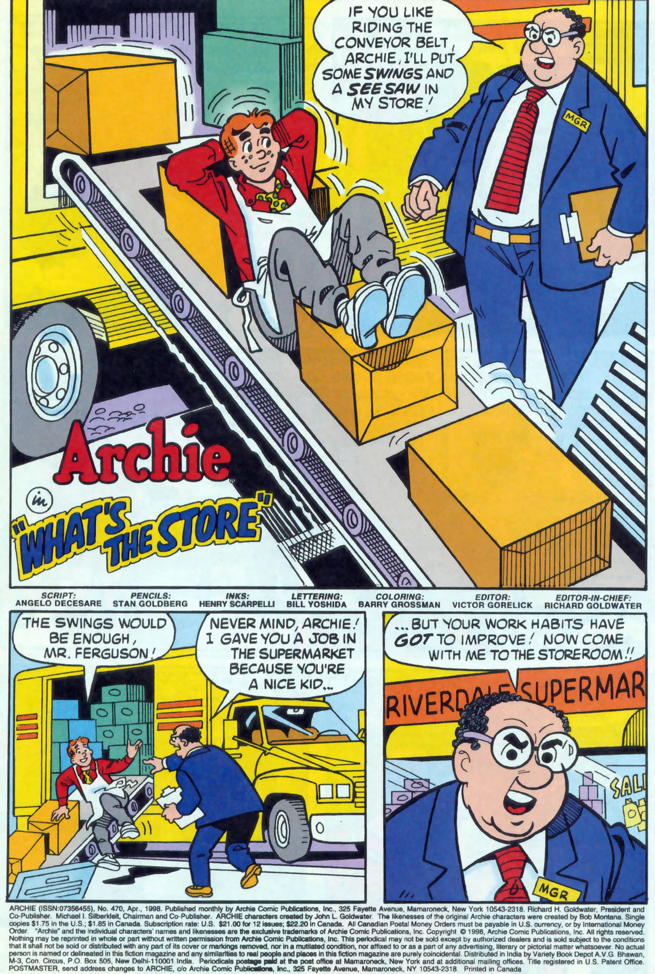 Read online Archie (1960) comic -  Issue #470 - 2