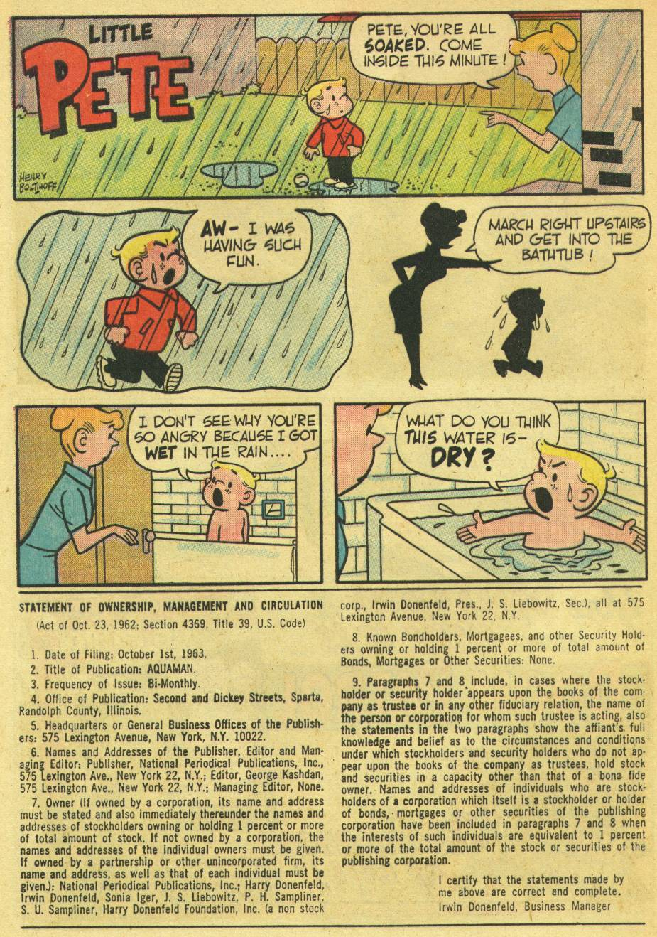 Read online Aquaman (1962) comic -  Issue #14 - 16