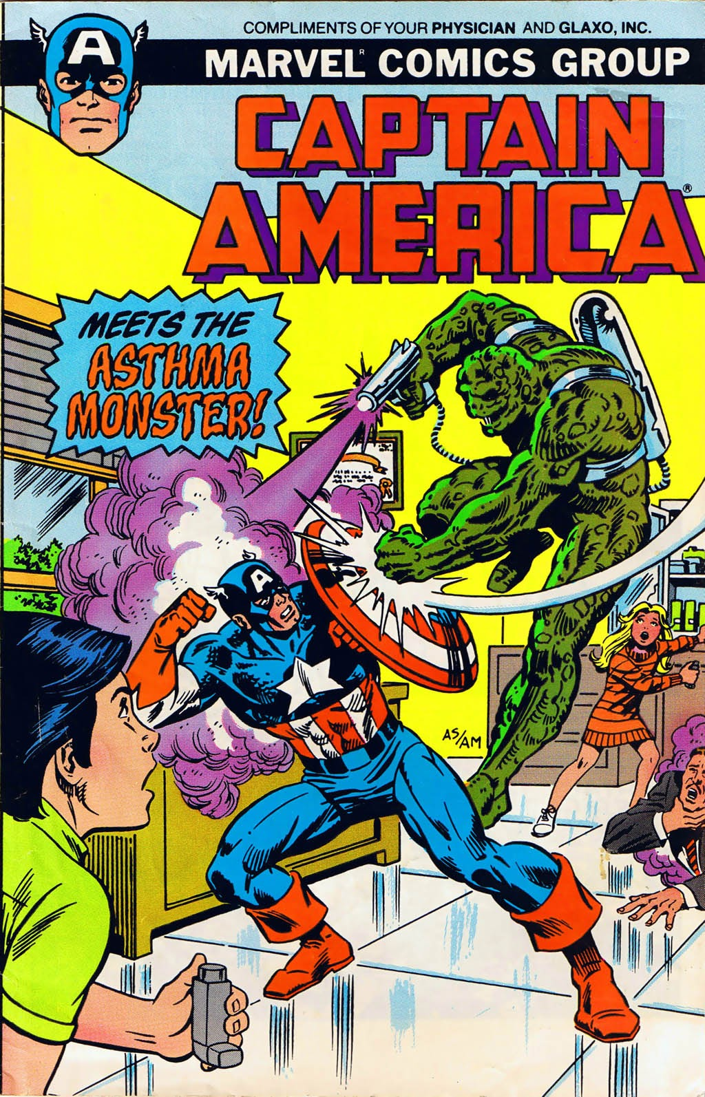 Captain America Meets the Asthma Monster Full Page 1