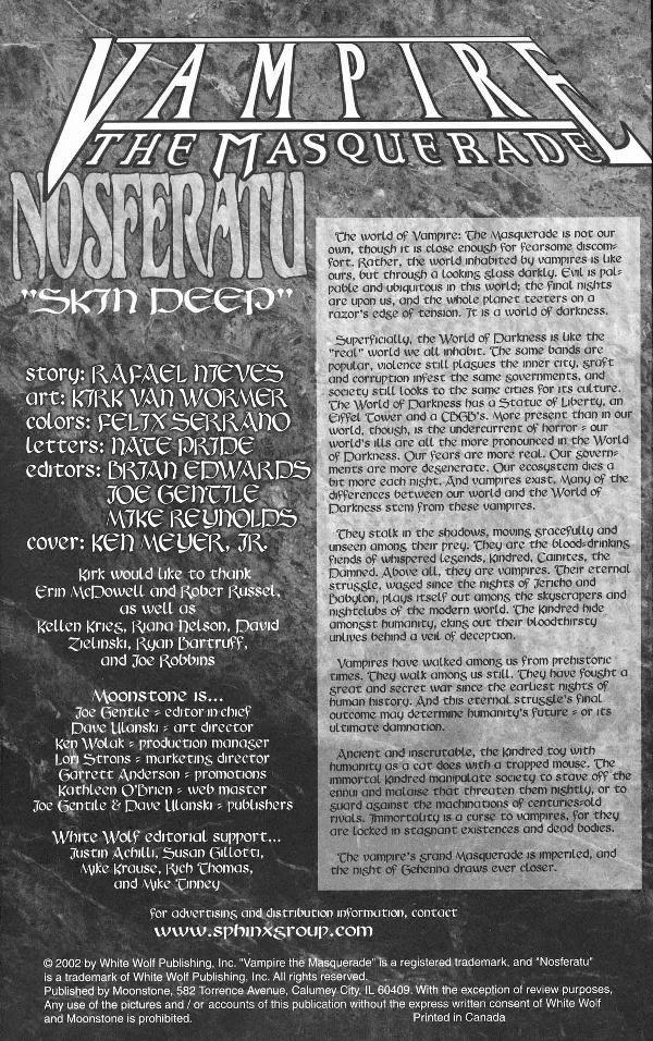 Read online Vampire the Masquerade comic -  Issue # Nosferatu - 2