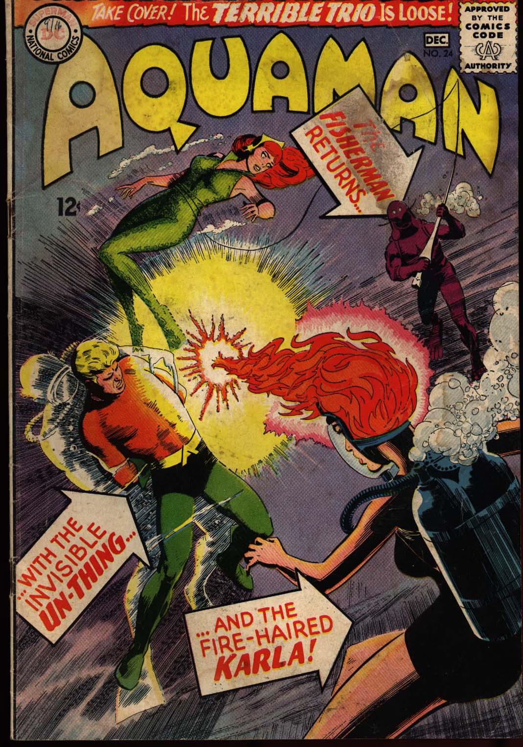 Read online Aquaman (1962) comic -  Issue #24 - 1