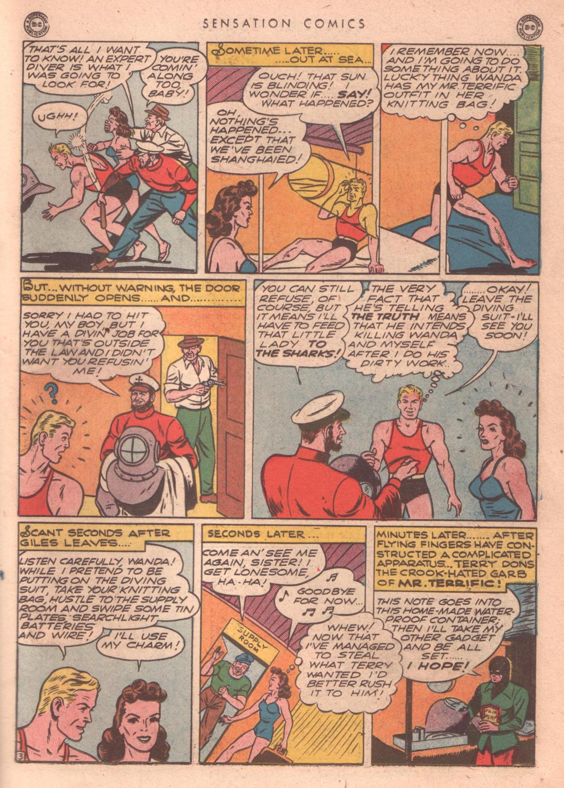 Read online Sensation (Mystery) Comics comic -  Issue #35 - 33