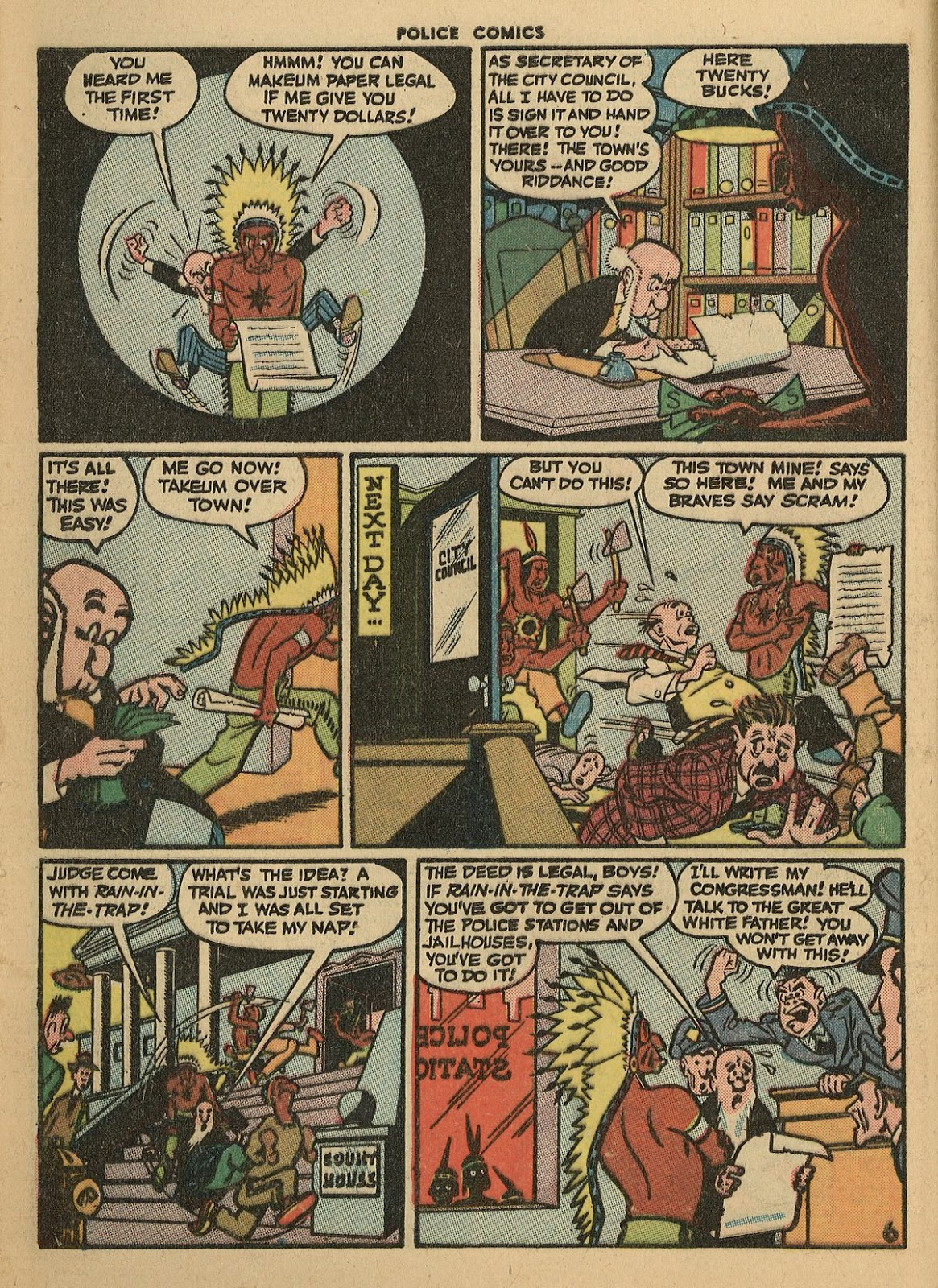 Police Comics issue 45 - Page 8