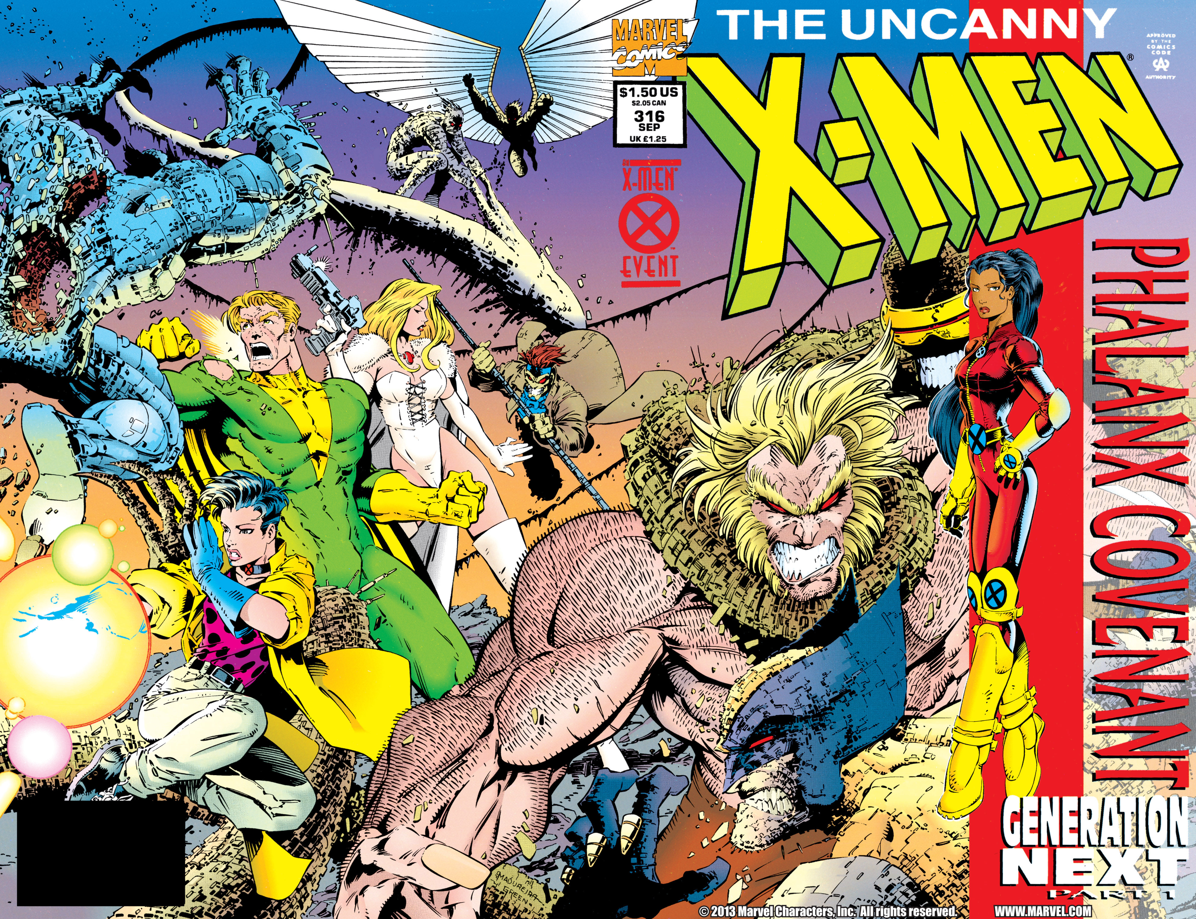 Read online Uncanny X-Men (1963) comic -  Issue #316 - 2