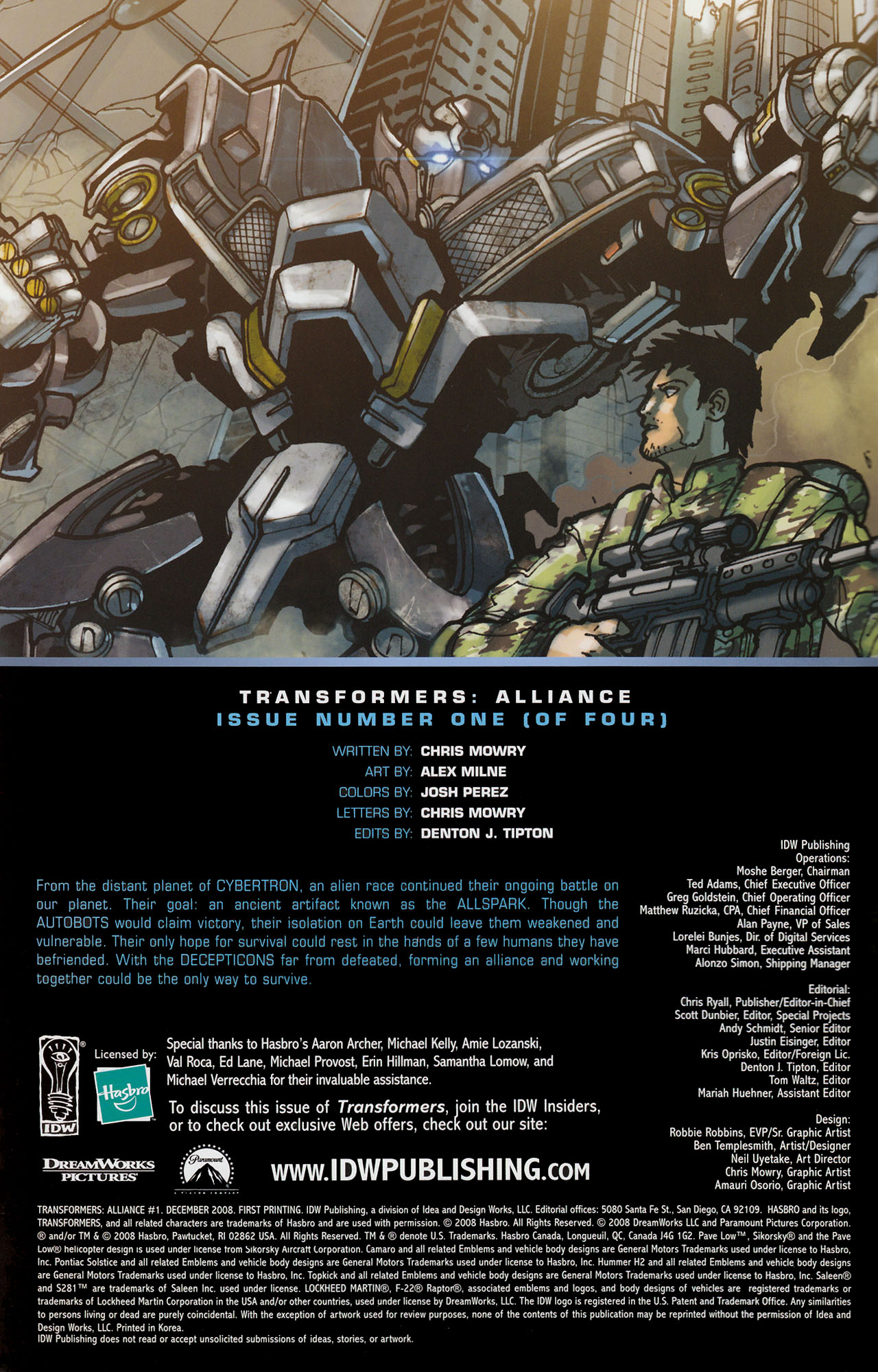 Read online Transformers: Alliance comic -  Issue #1 - 3