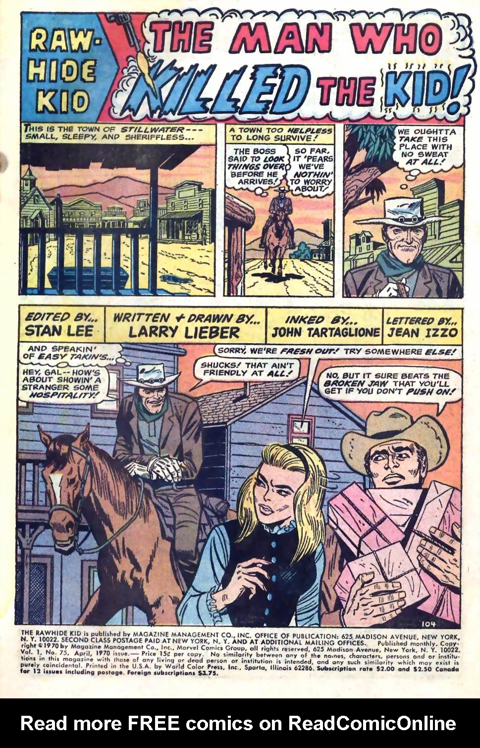 The Rawhide Kid (1955) issue 75 - Page 3