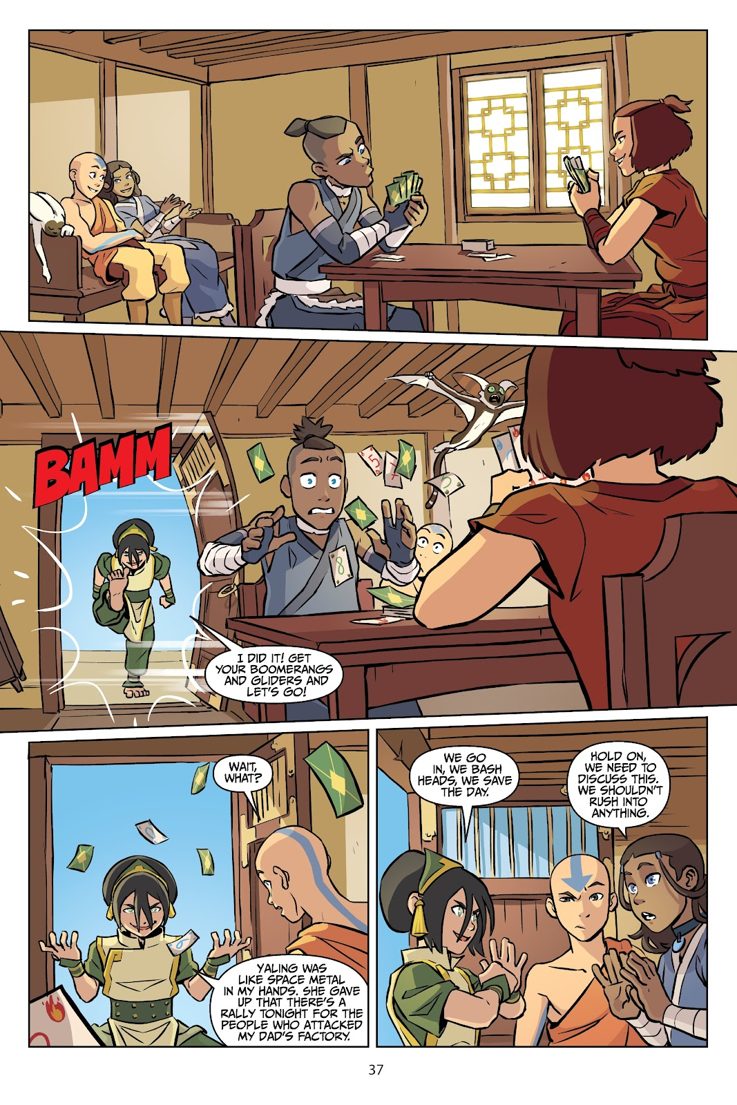 Read online Nickelodeon Avatar: The Last Airbender - Imbalance comic -  Issue # TPB 2 - 38