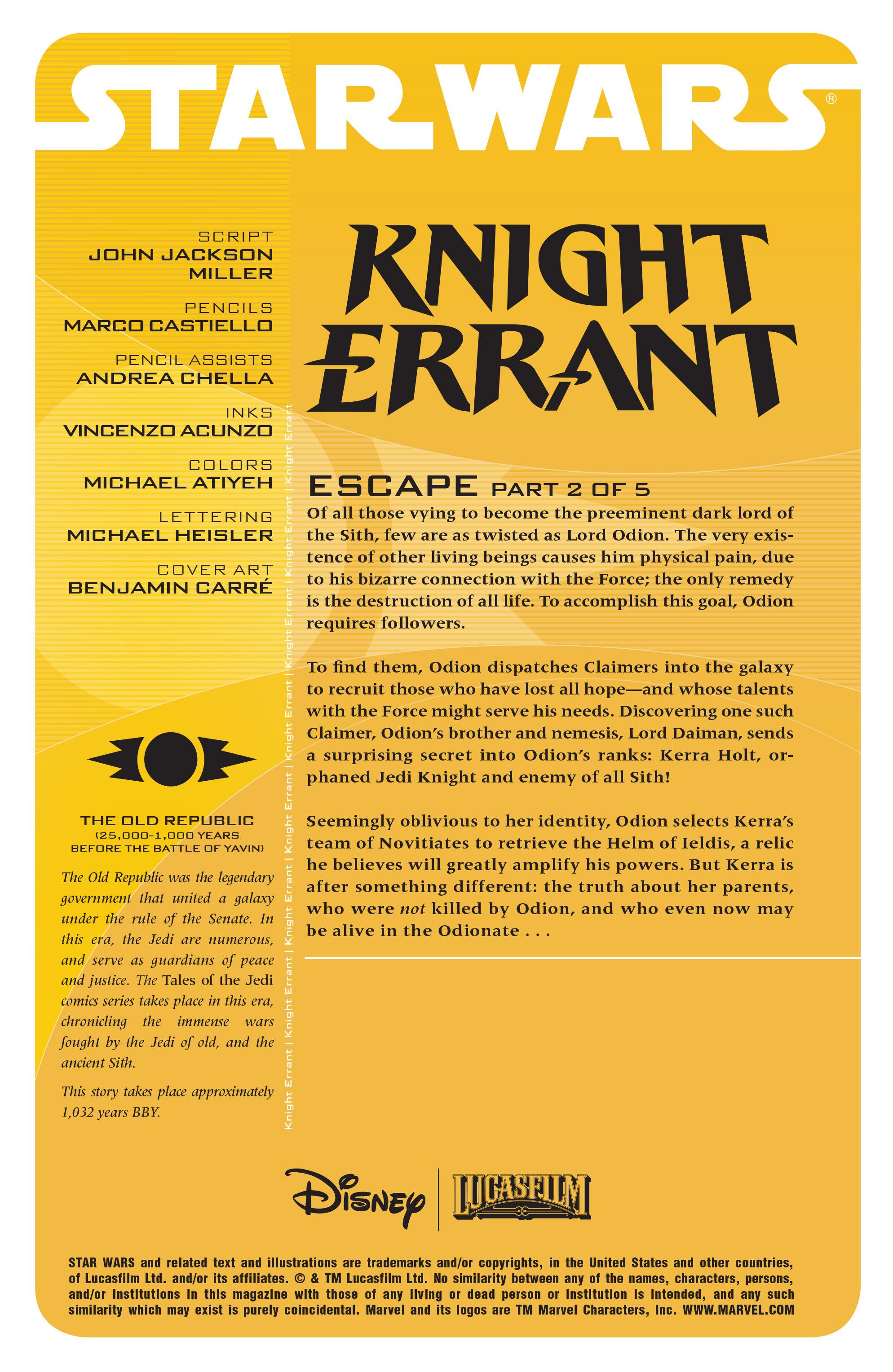 Read online Star Wars: Knight Errant - Escape comic -  Issue #2 - 2