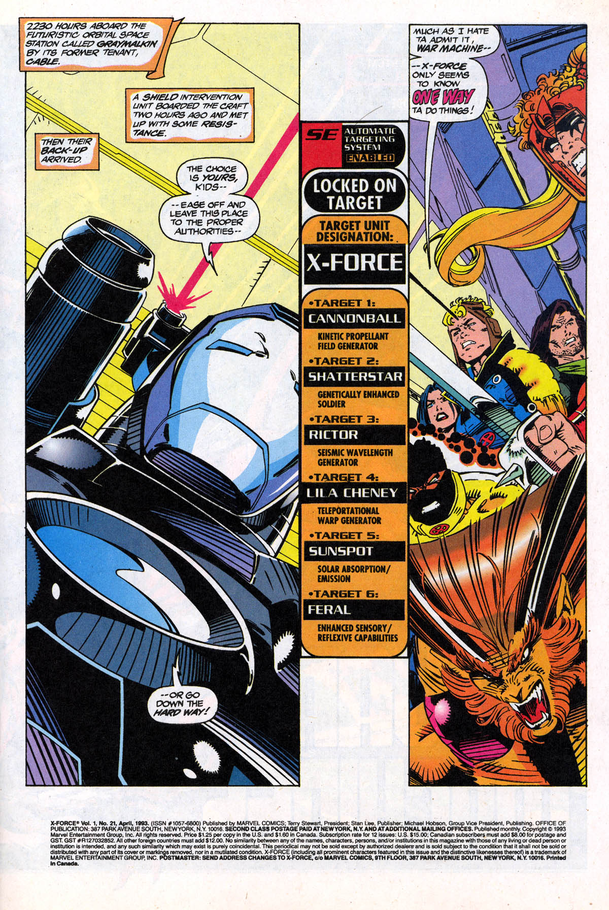 Read online X-Force (1991) comic -  Issue #21 - 3