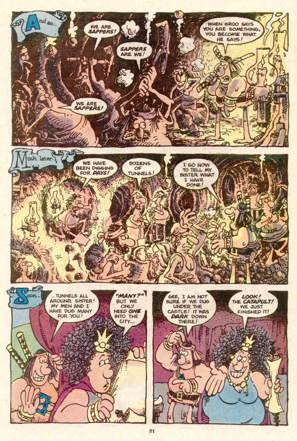 Read online Sergio Aragonés Groo the Wanderer comic -  Issue #19 - 22