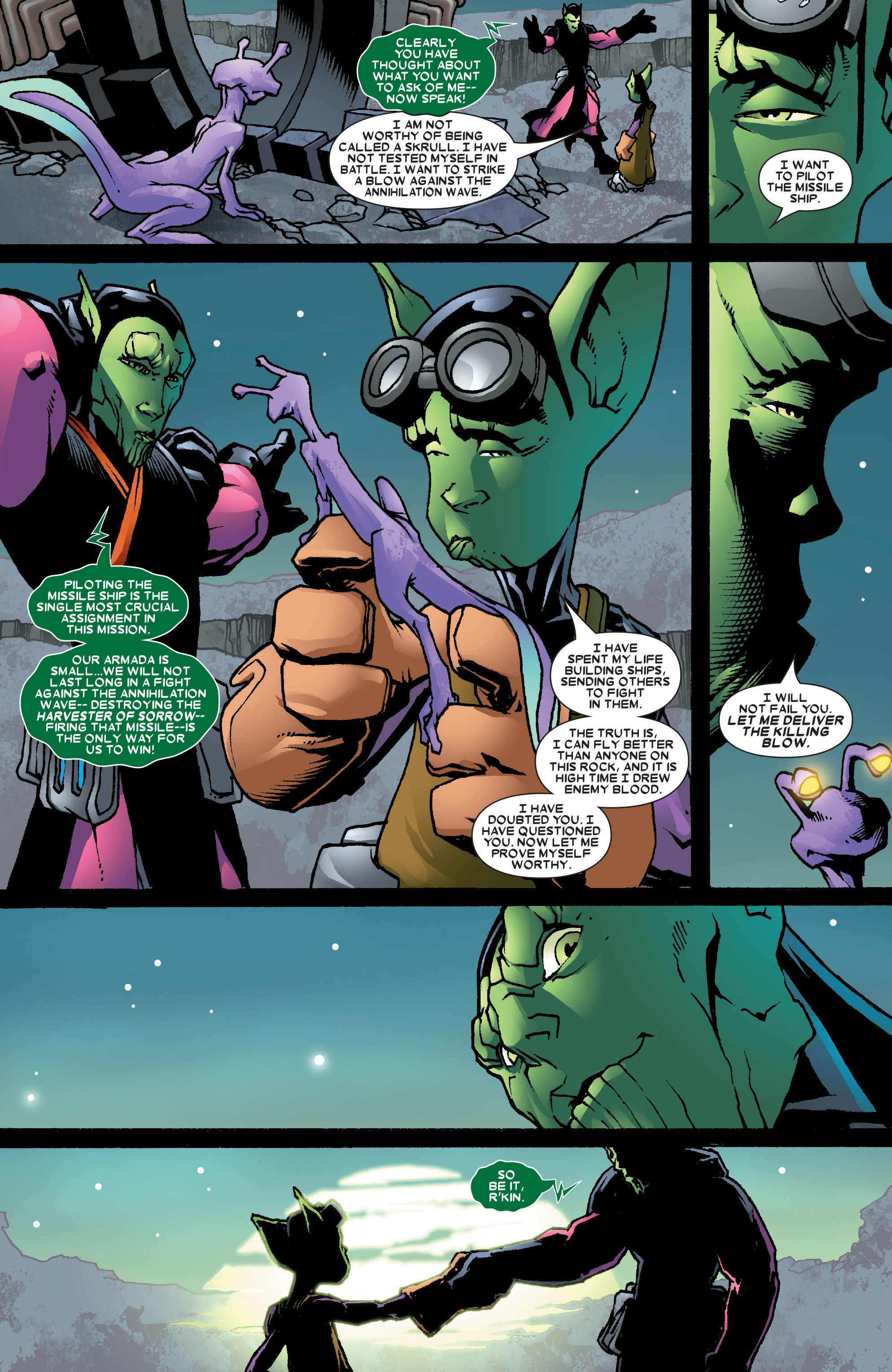 Read online Annihilation: Super-Skrull comic -  Issue #3 - 14