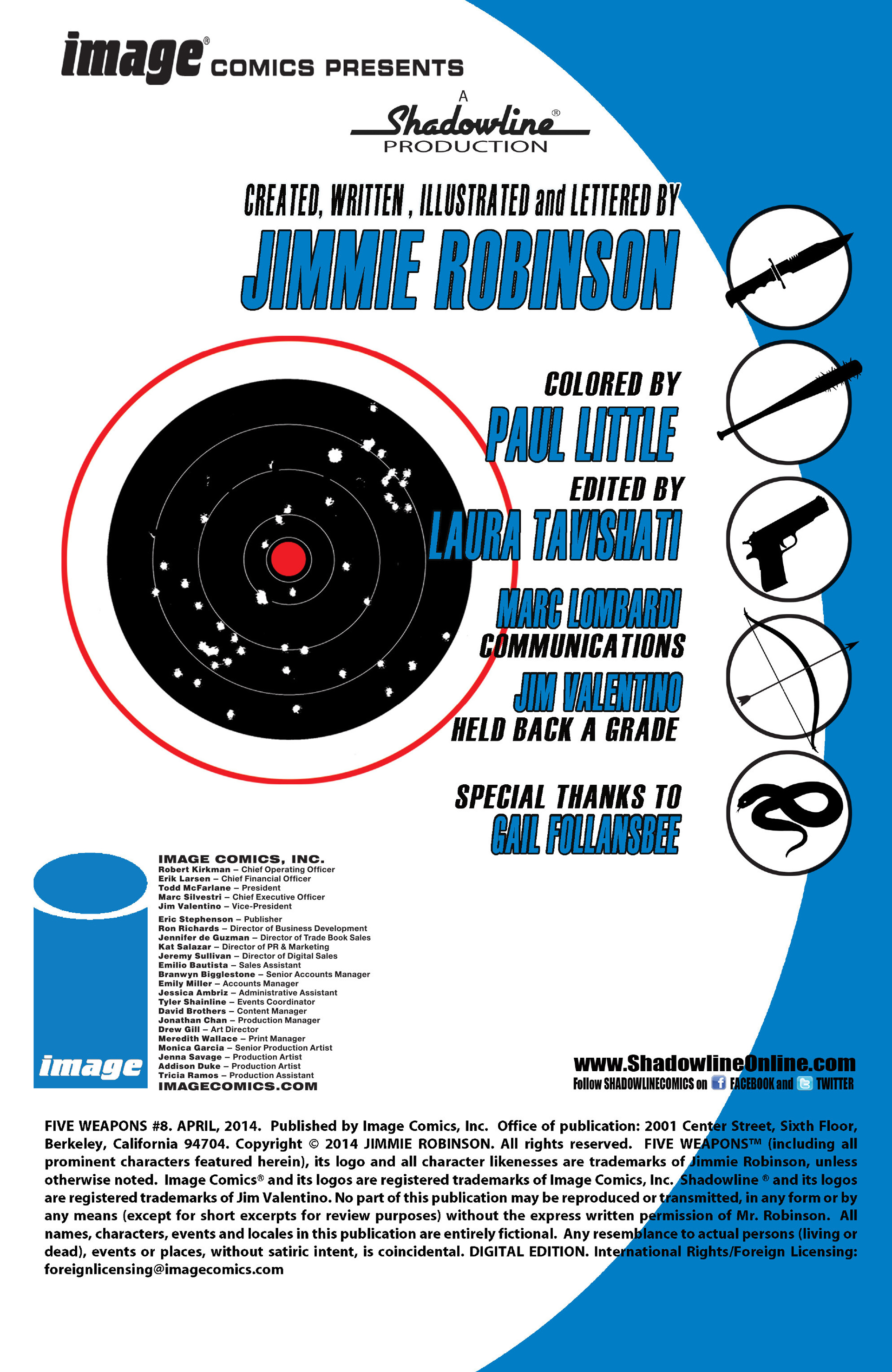 Read online Five Weapons comic -  Issue #8 - 2