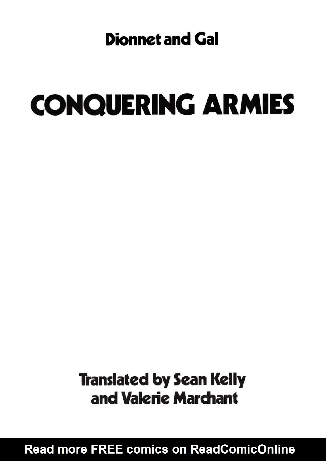 Conquering Armies issue TPB - Page 3