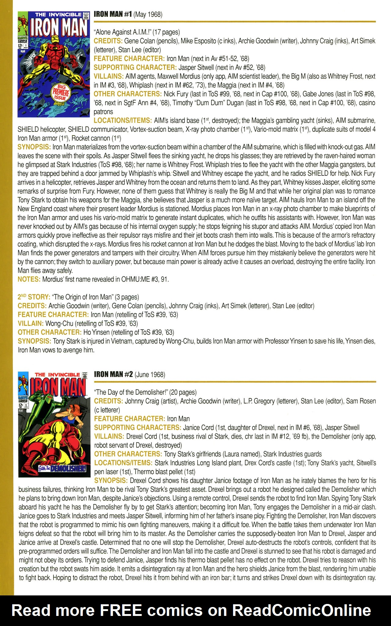 Read online Official Index to the Marvel Universe comic -  Issue #2 - 40