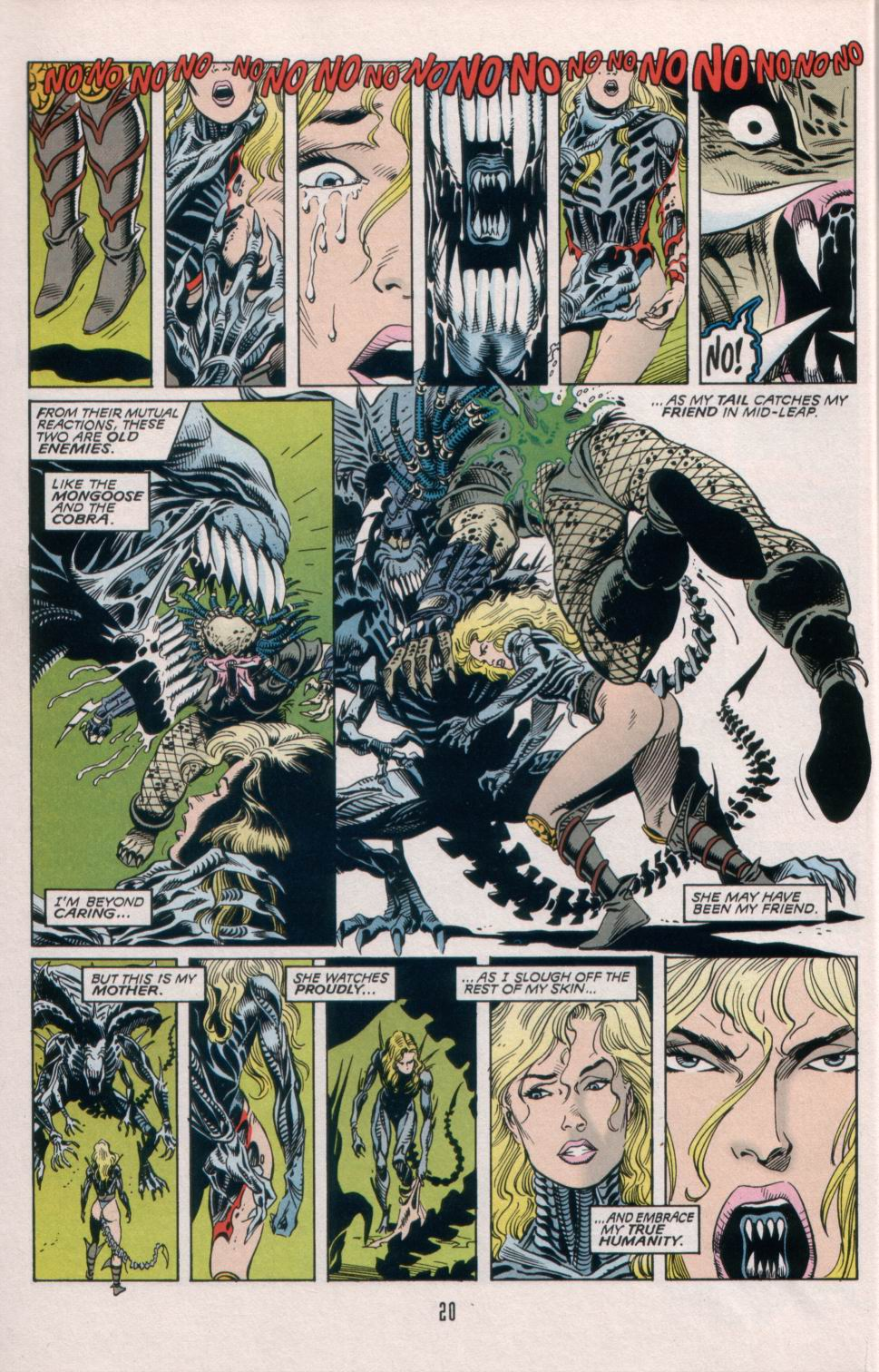 Read online Aliens/Predator: The Deadliest of the Species comic -  Issue #5 - 21