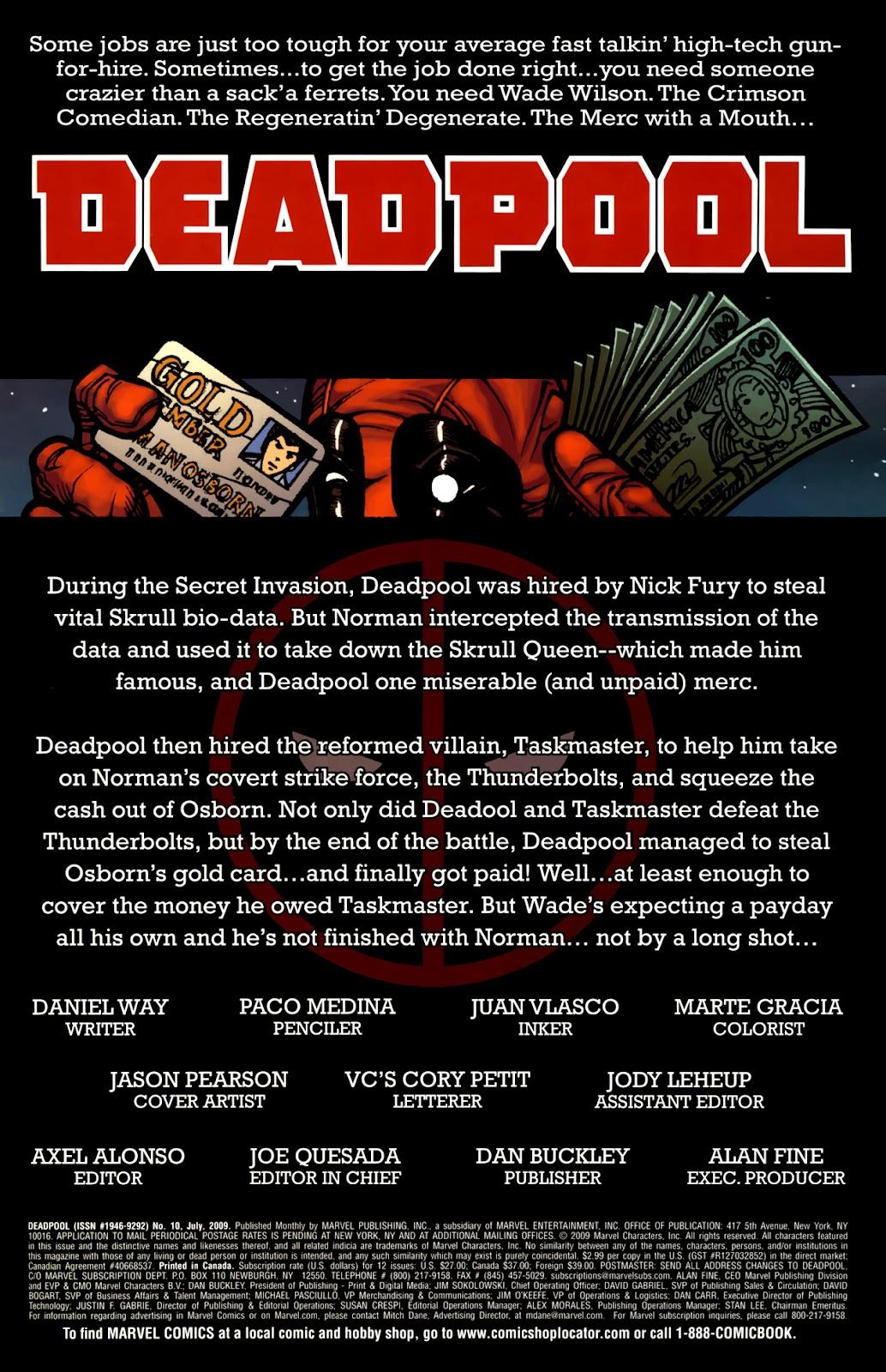 Read online Deadpool (2008) comic -  Issue #10 - 2
