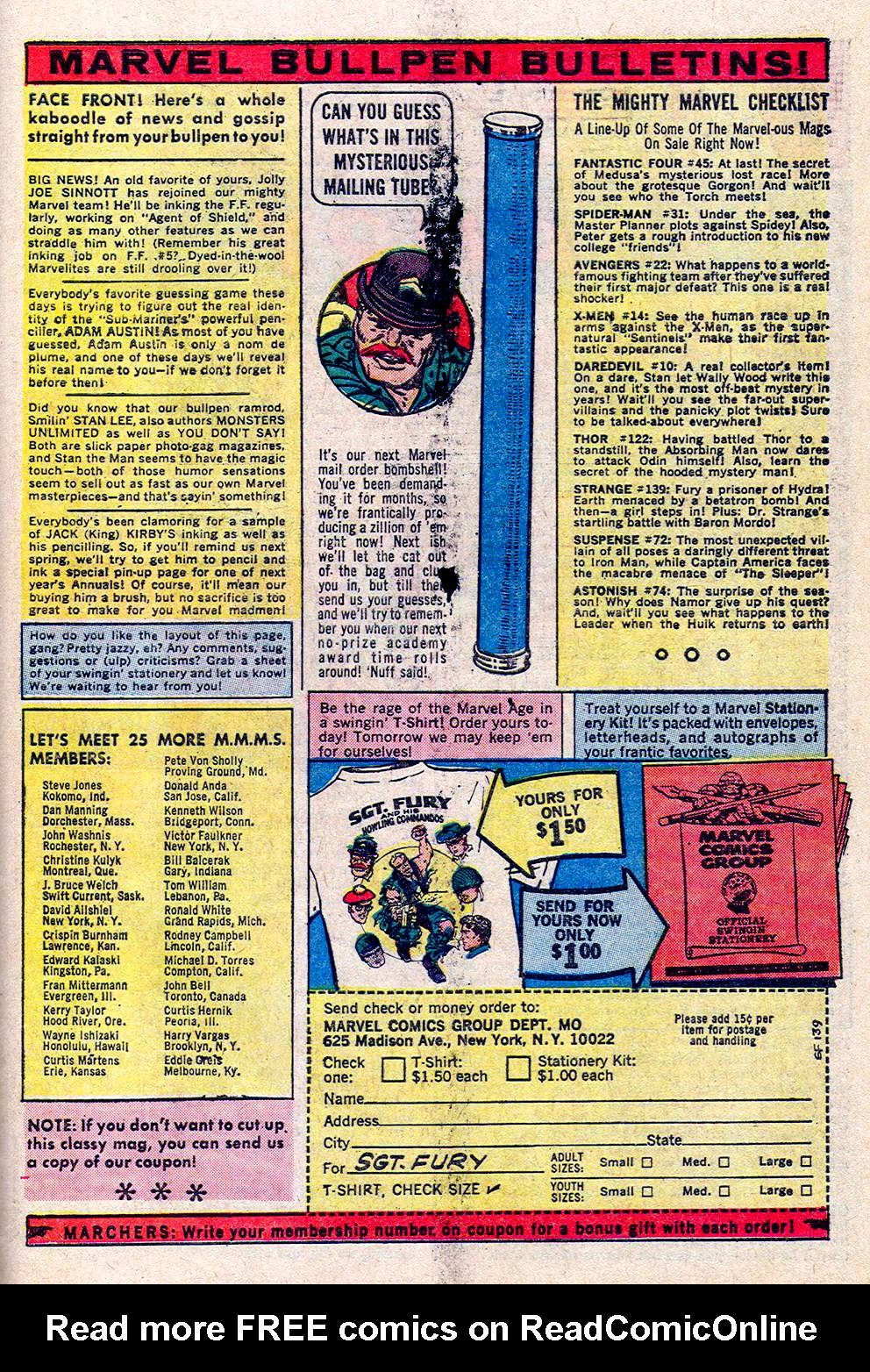 Read online Sgt. Fury comic -  Issue #24 - 31