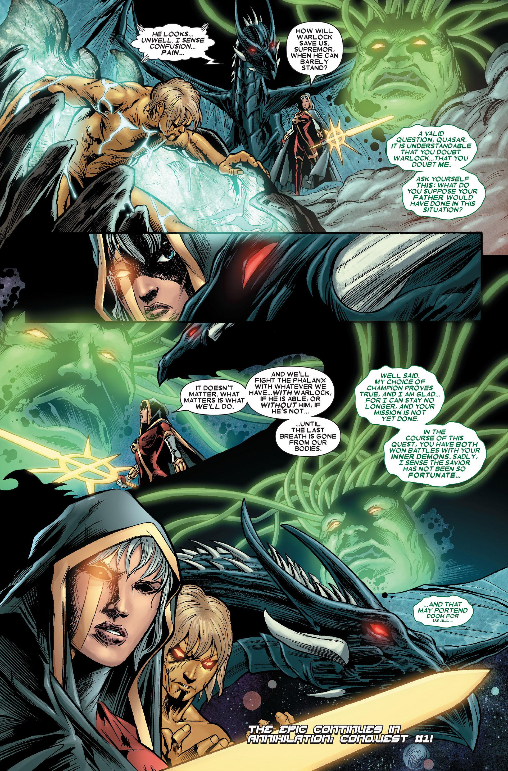 Read online Annihilation: Conquest - Quasar comic -  Issue #4 - 21
