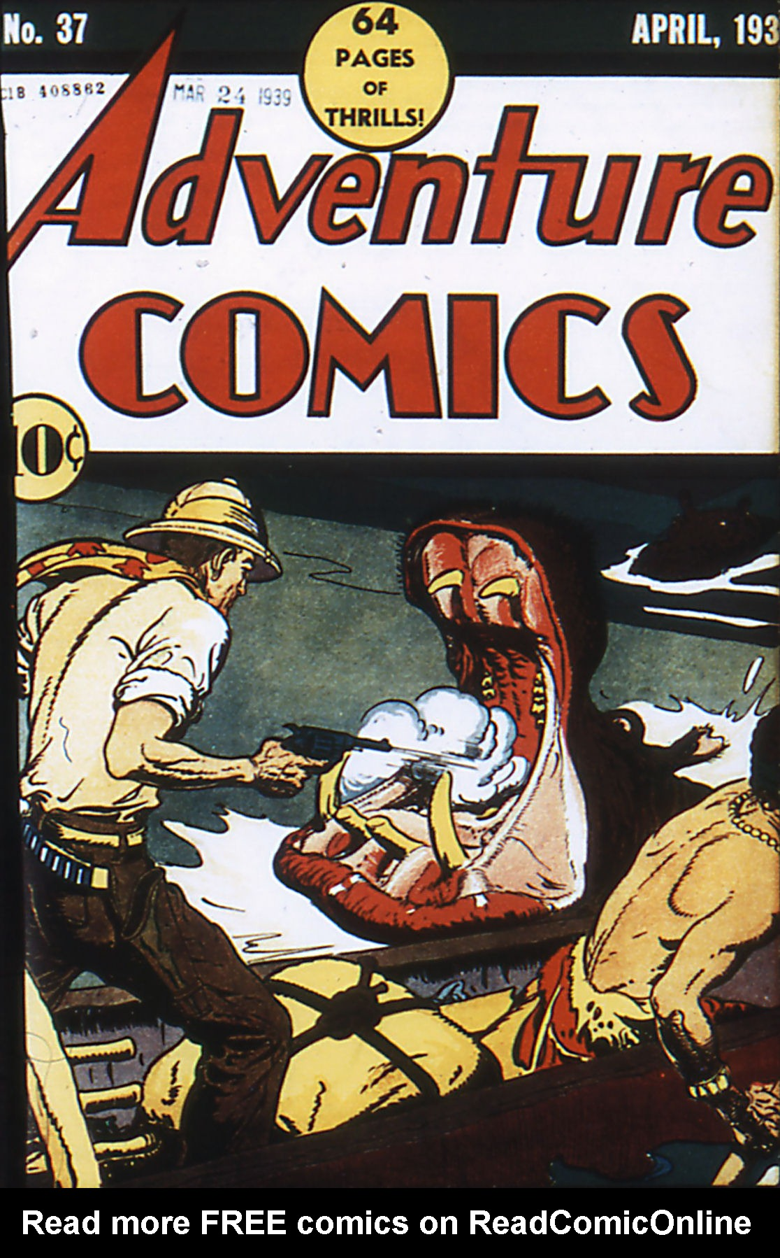 Read online Adventure Comics (1938) comic -  Issue #37 - 1