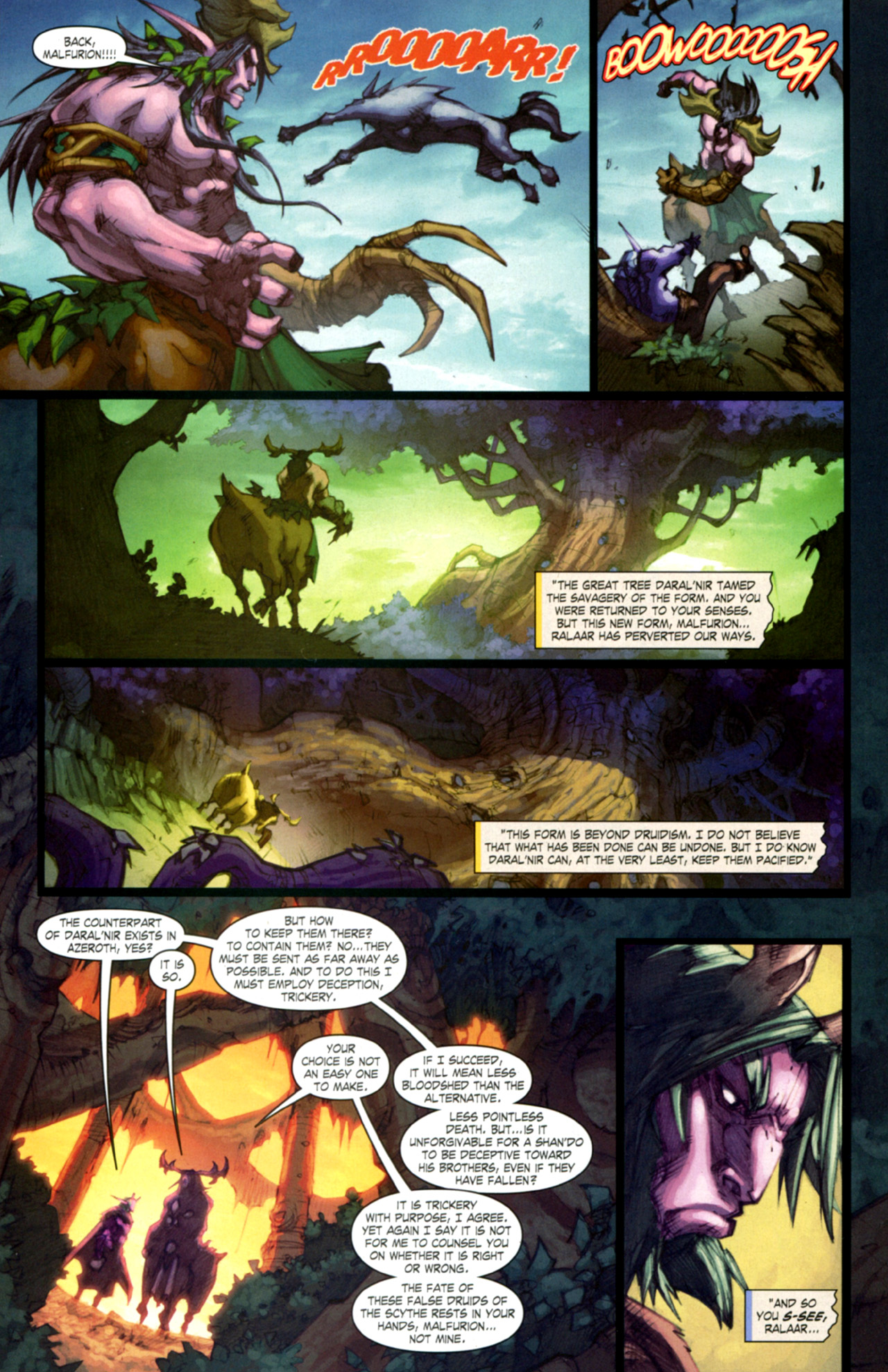 Read online World of Warcraft: Curse of the Worgen comic -  Issue #4 - 16